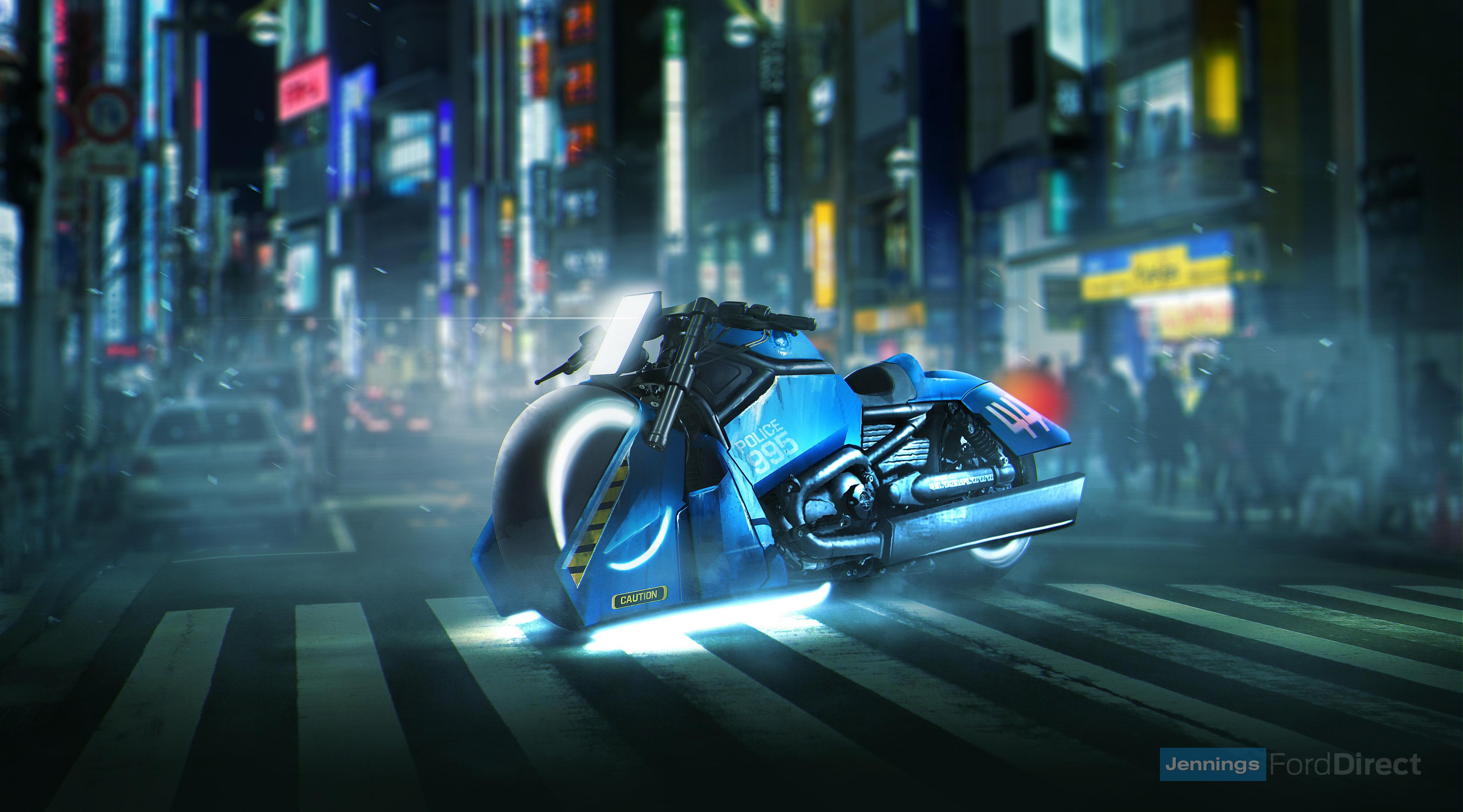 Blade Runner Spinner Bike Harley Davidson V Rod Muscle Hd