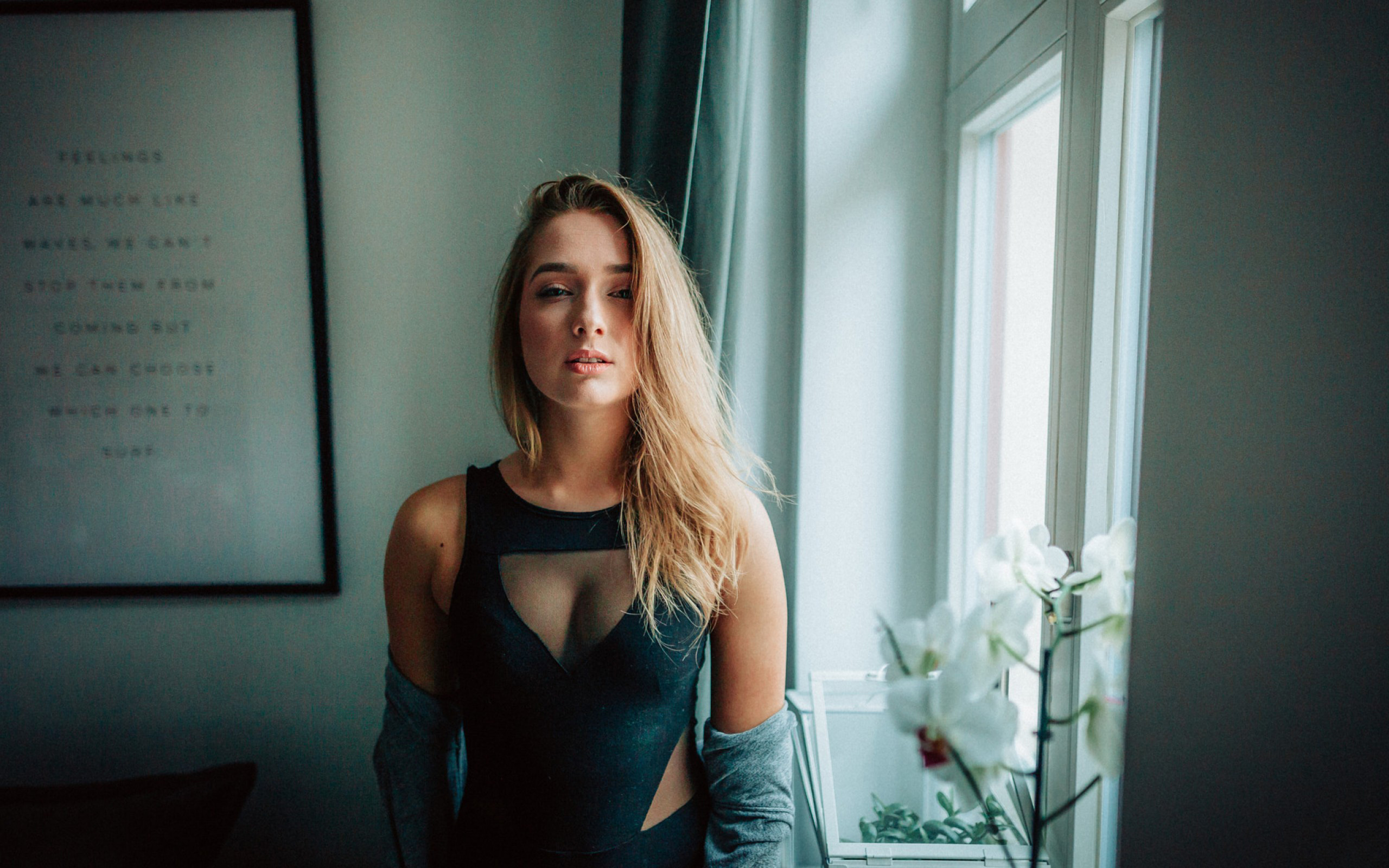 Blonde Attractive Girl Indoor, HD Girls, 4k Wallpapers