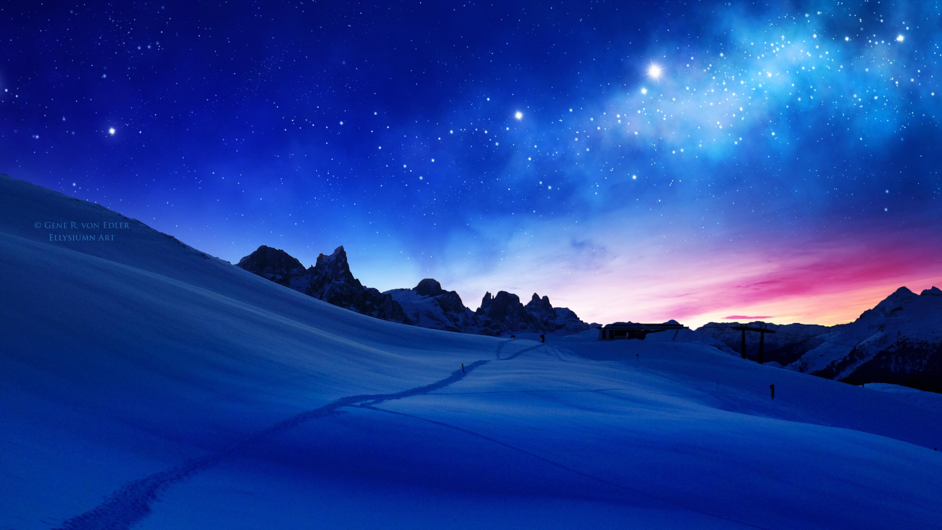 1366x768 Blue Cool Sunset 1366x768 Resolution HD 4k