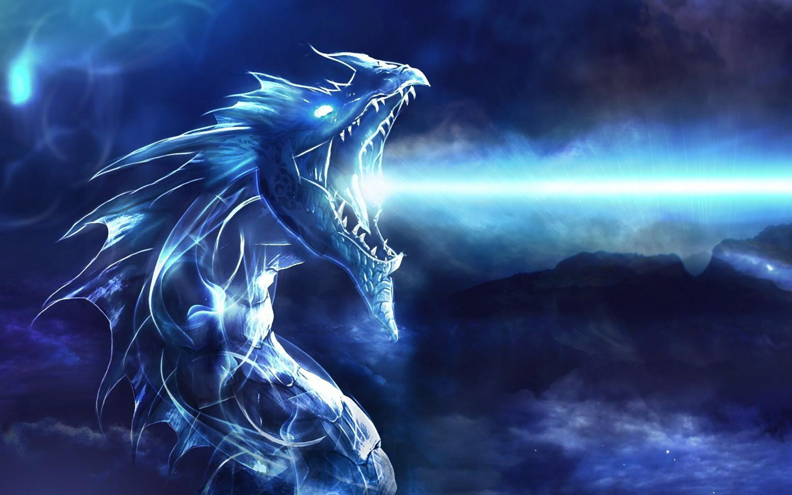 Blue Dragon, HD Abstract, 4k Wallpapers, Images ...