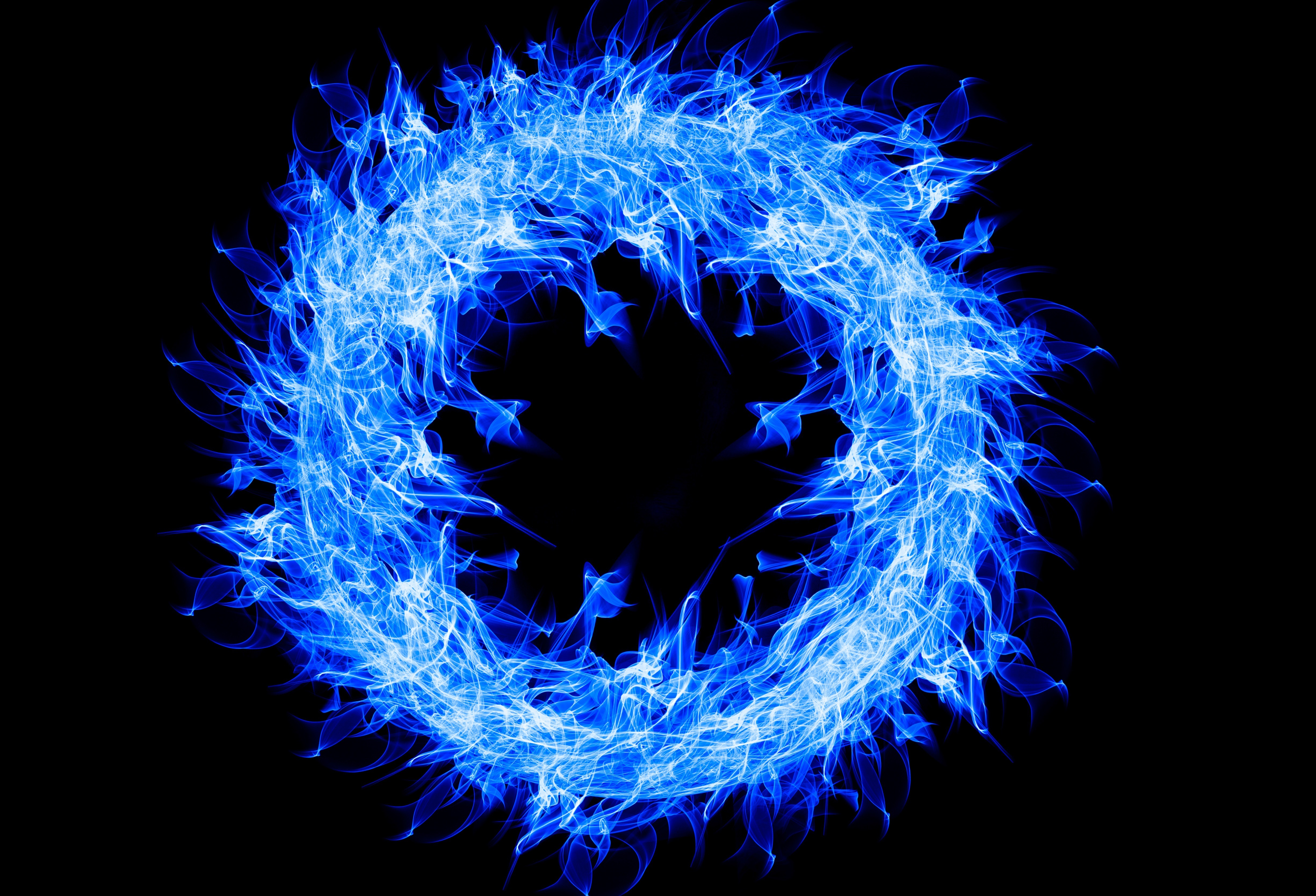 Blue Fire Ring 4k Hd Creative 4k Wallpapers Images