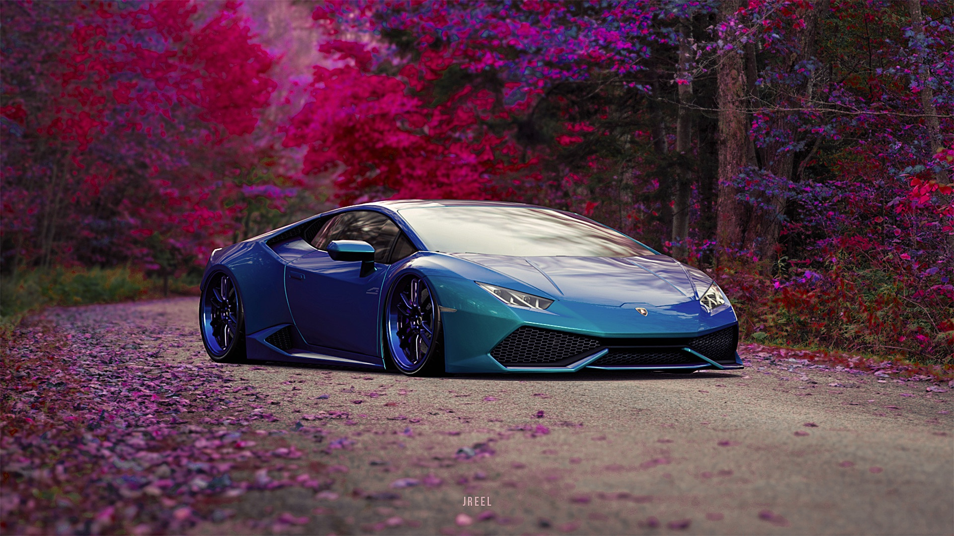 3840x2160 Blue Lamborghini Huracan Car 4k HD 4k Wallpapers