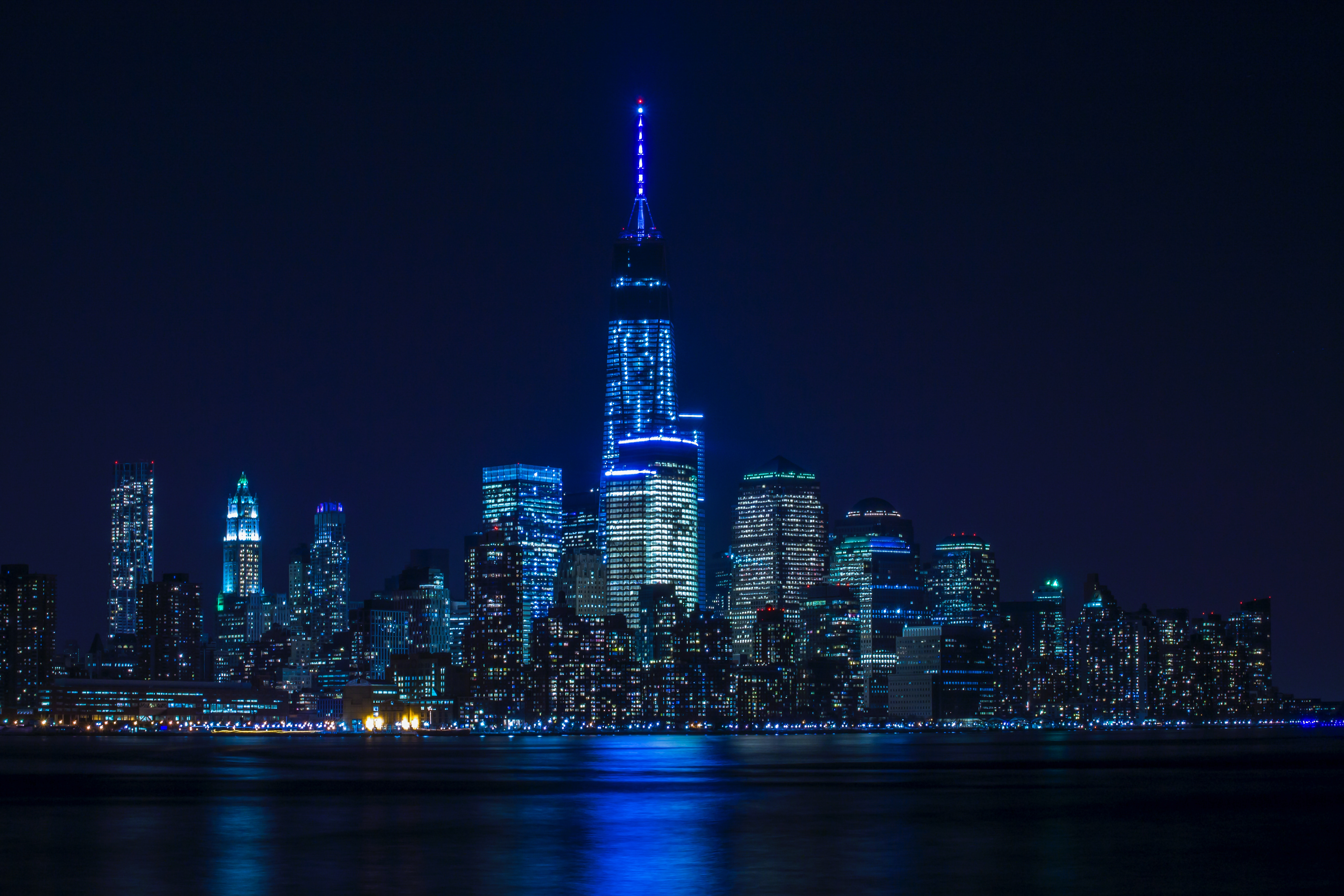 Blue Light Buildings Architecture 8k, HD World, 4k ...