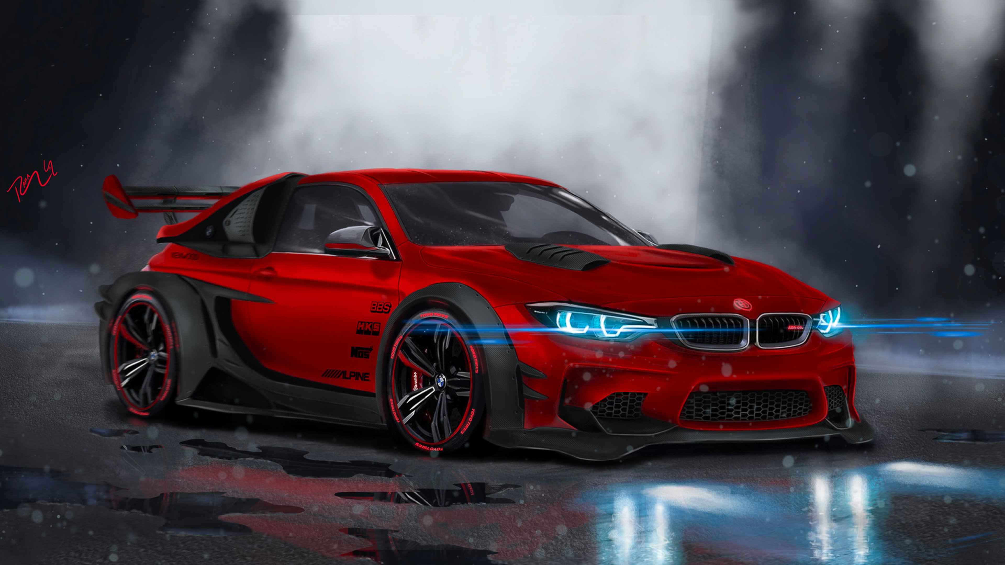 bmw m4 highly modified, hd cars, 4k wallpapers, images, backgrounds