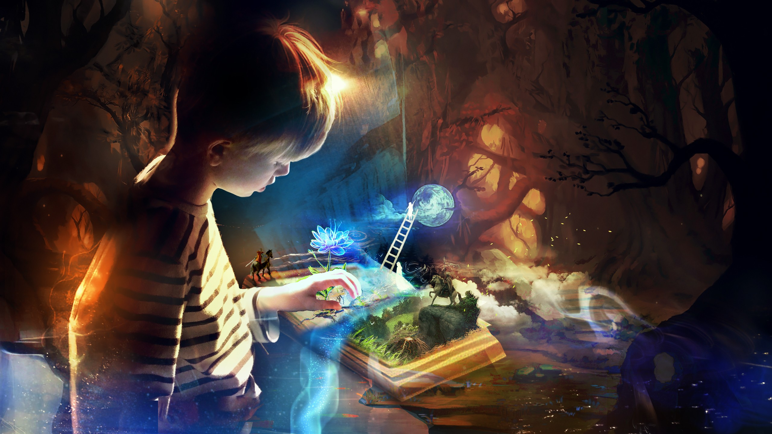Creative Detailed Hd Fantasy Wallpapers: Book Imagination, HD Creative, 4k Wallpapers, Images