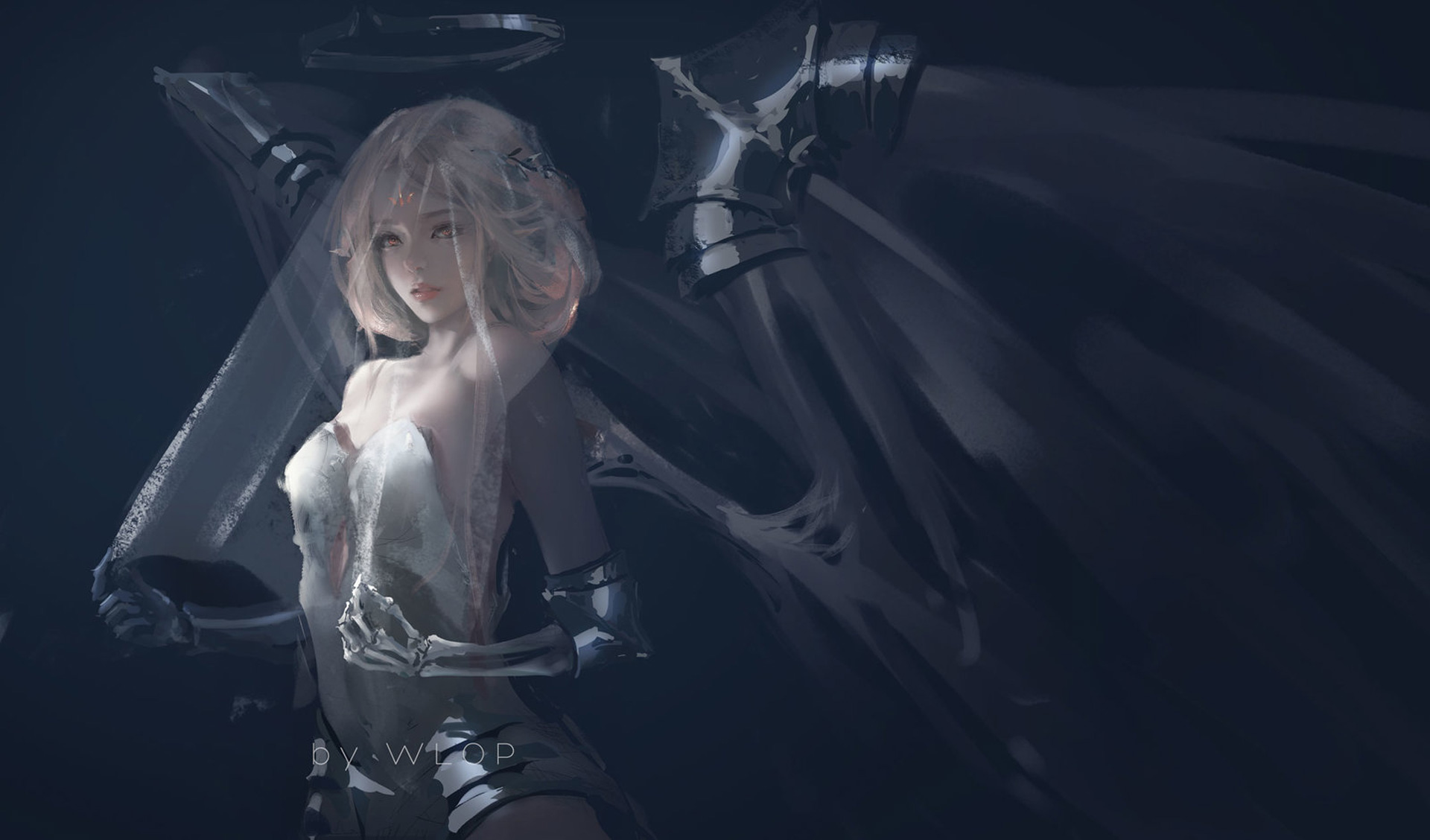 Bride Of Death By Wlop, HD Fantasy Girls, 4k Wallpapers