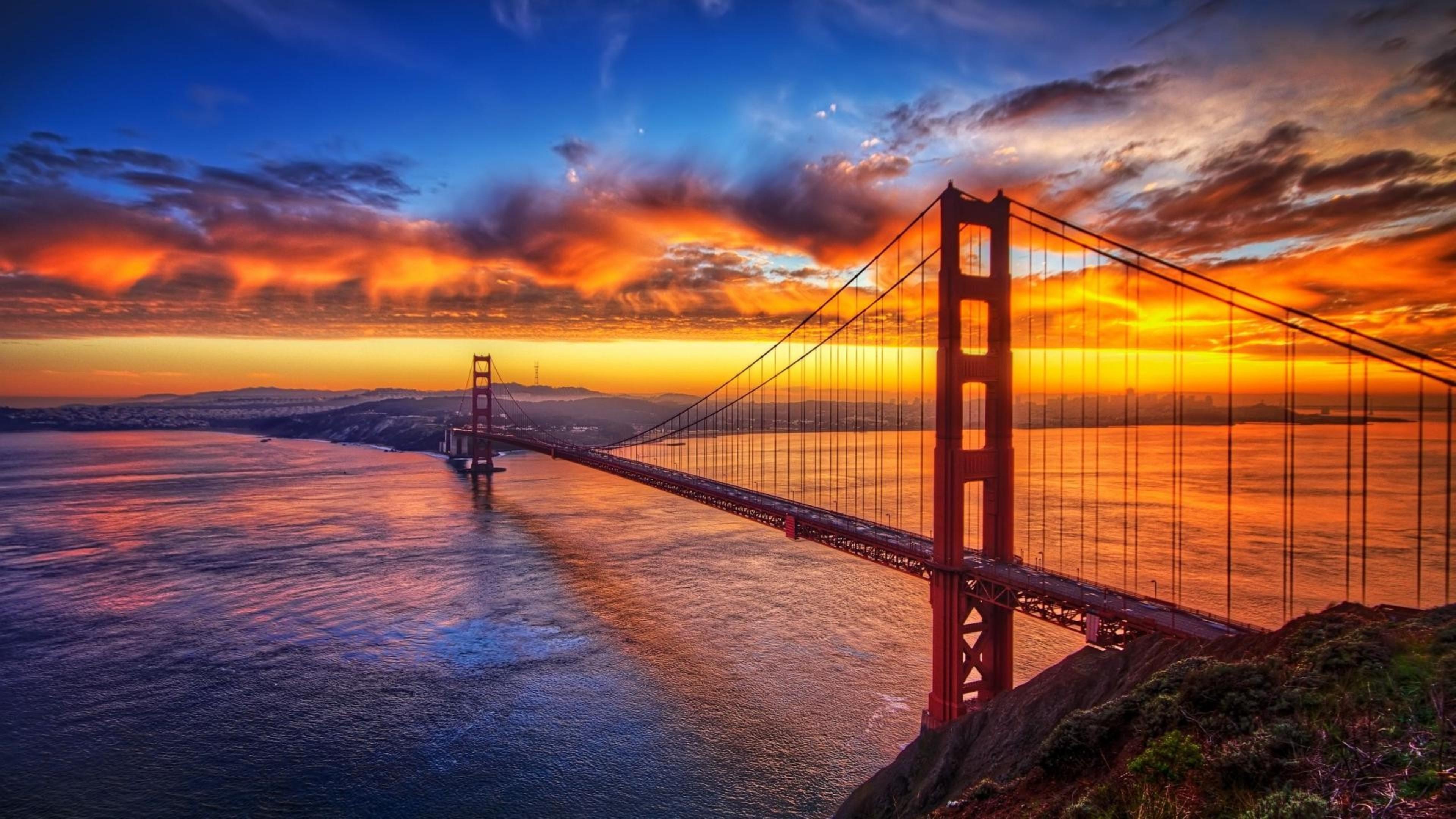 Bridge Sunset Sky, HD Nature, 4k Wallpapers, Images ...