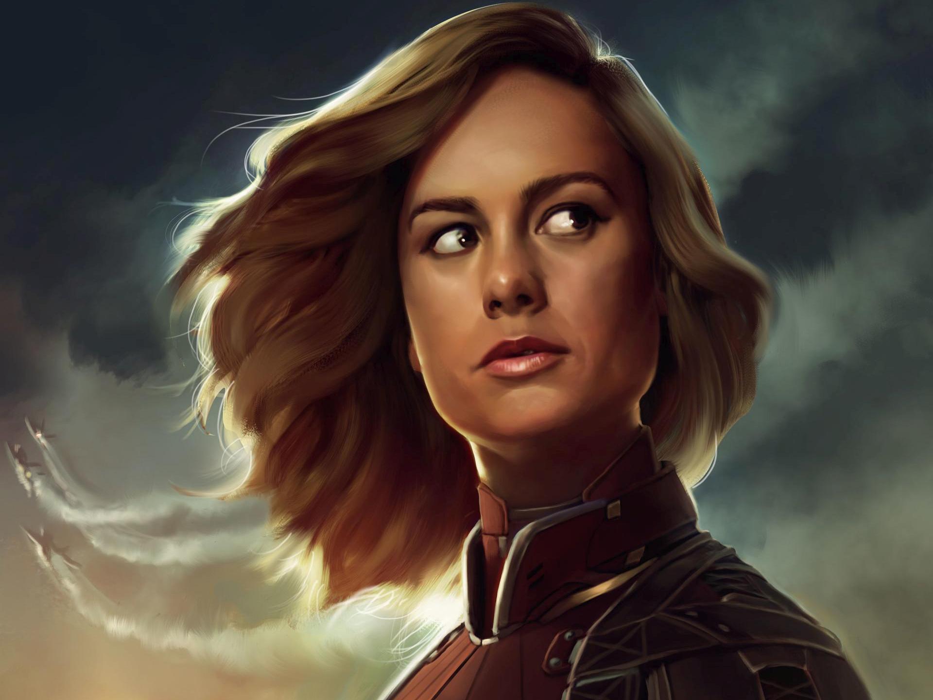 Download Wallpaper Marvel Portrait - brie-larson-captain-marvel-artwork-gv  Image_559875.jpg