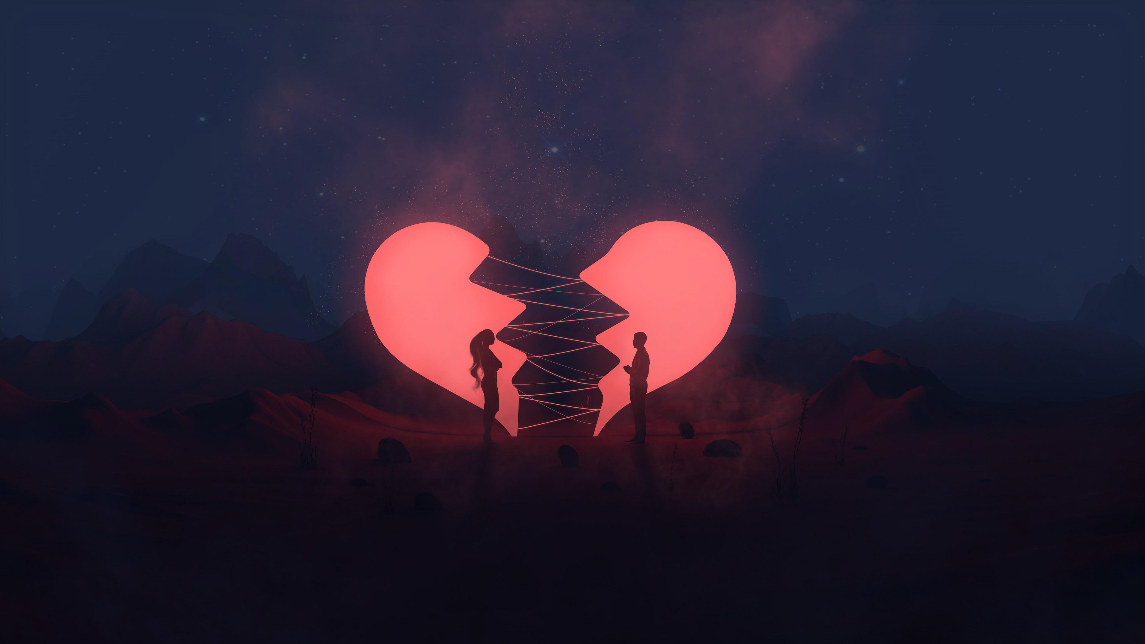 Broken Heart Couple Hd Love 4k Wallpapers Images