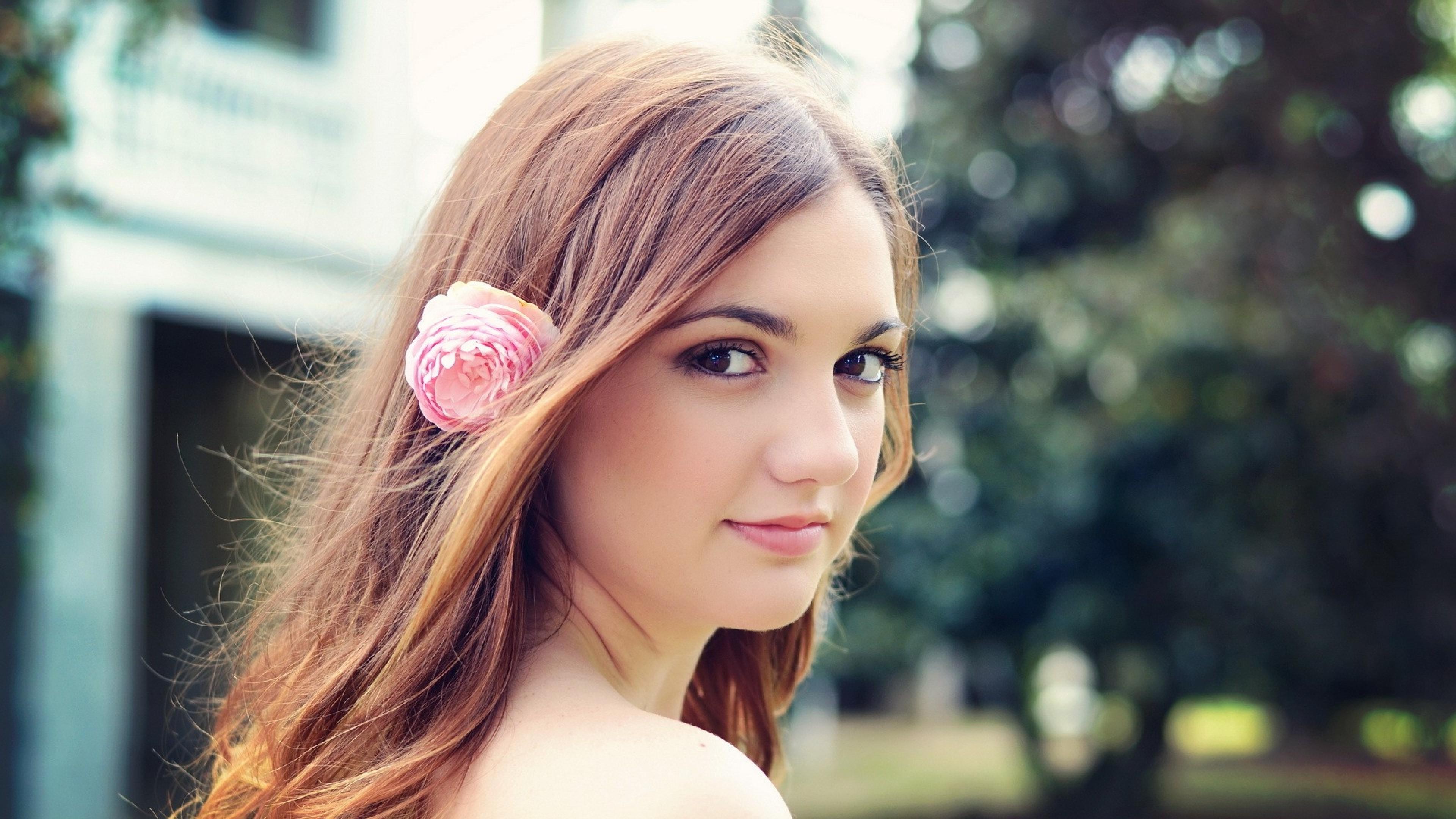 Brunette Girl Smiling, HD Girls, 4k Wallpapers, Images