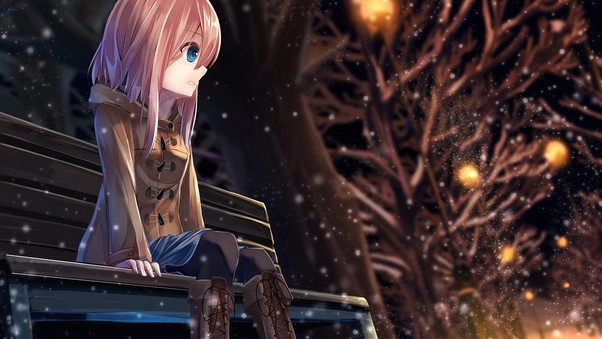 Anime Girl Alone, Hd Anime, 4K Wallpapers, Images -8561