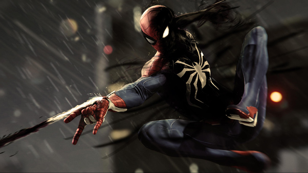 Black Spiderman Ps4 Pro 4k Hd Games 4k Wallpapers Images