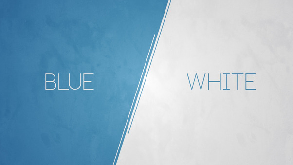 Blue vs white