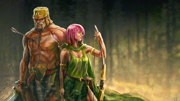 clash-of-clans-artwork-archer-and-barbarian-ih.jpg