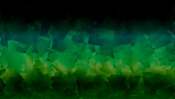 Dark Green Abstract Shapes 4k