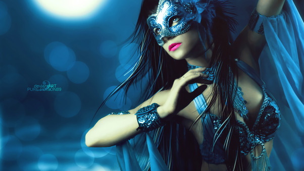 photo of girls with mask № 22480