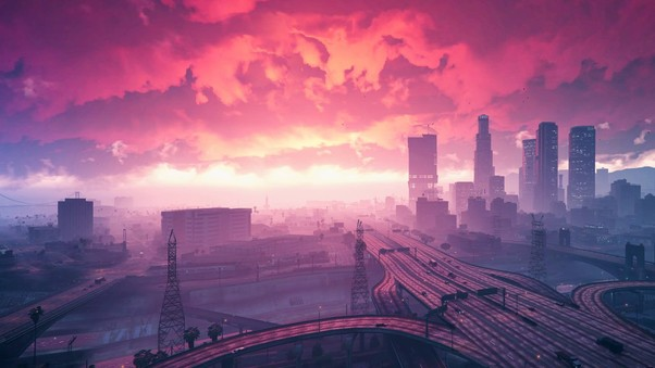 Grand Theft Auto V Sunset Artwork