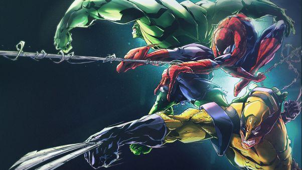 Hulk Spider Man Wolverine 8k Hd Superheroes 4k Wallpapers Images
