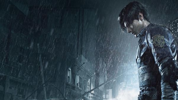 Leon Kennedy Resident Evil 2, HD Games, 4k Wallpapers