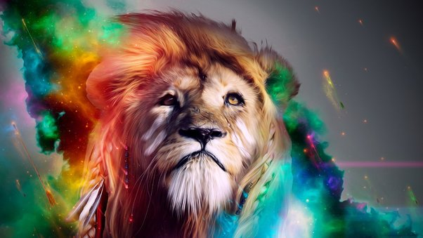 Lion Abstract 4k