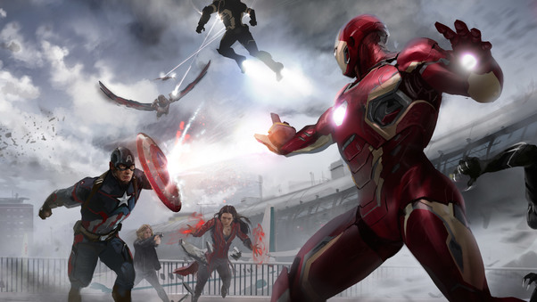 Captain America Civil War Wallpaper 4k: Marvel Civil War Artwork, HD Movies, 4k Wallpapers, Images