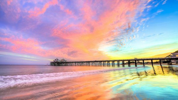 Pier Beach California HD Nature 4k Wallpapers Images Backgrounds