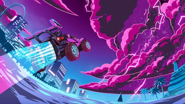 Rocket League X Monstercat, HD Games, 4k Wallpapers
