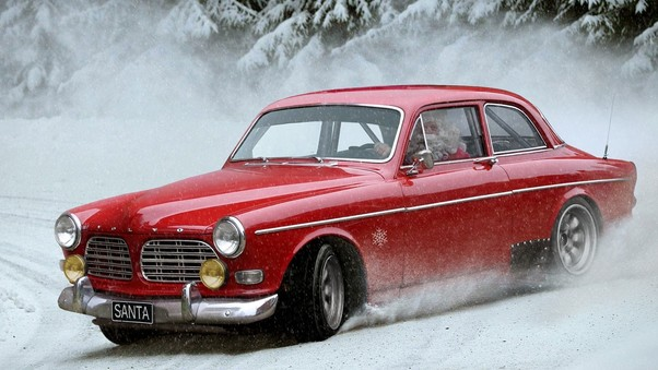 Santa Claus Drifting Car