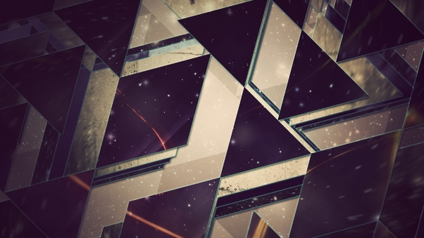 Triangles Abstract HD Background