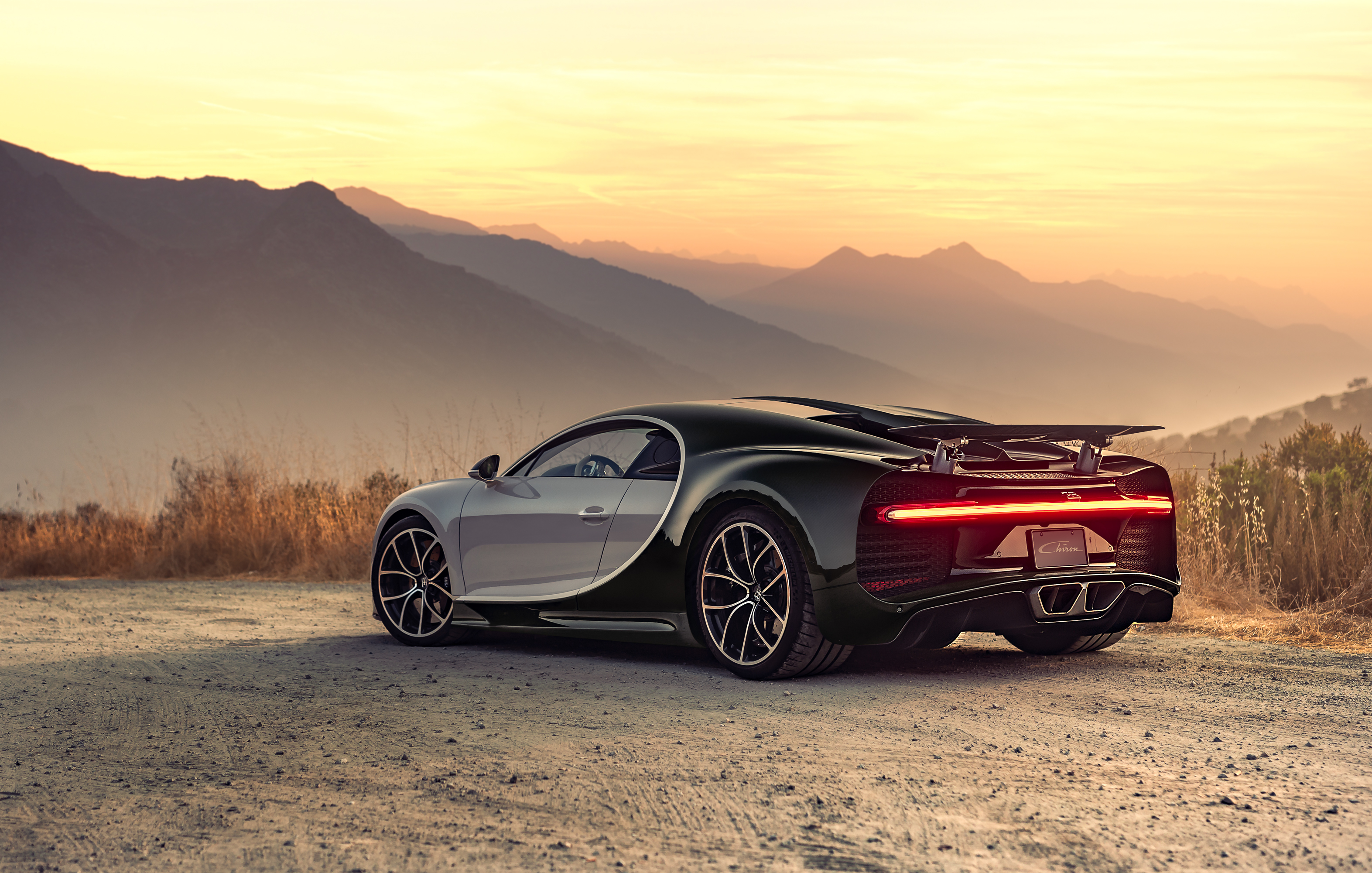 bugatti 4k chiron wallpapers rear cars hd supercar sunset 1080p laptop backgrounds desktop behance artist hypercar evening hdqwalls 8p 2259