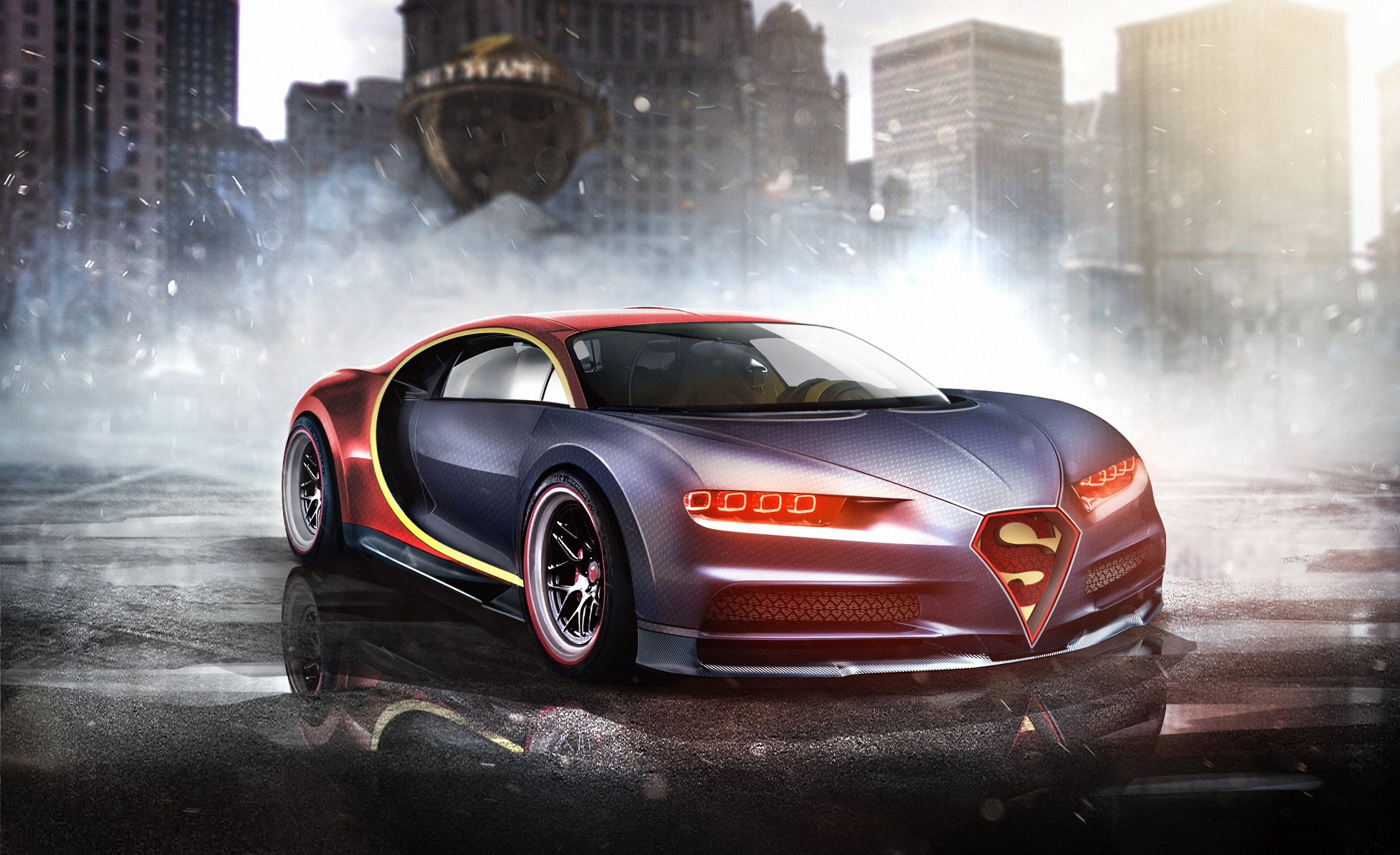Bugatti Chiron Superman Hd Superheroes 4k Wallpapers Images