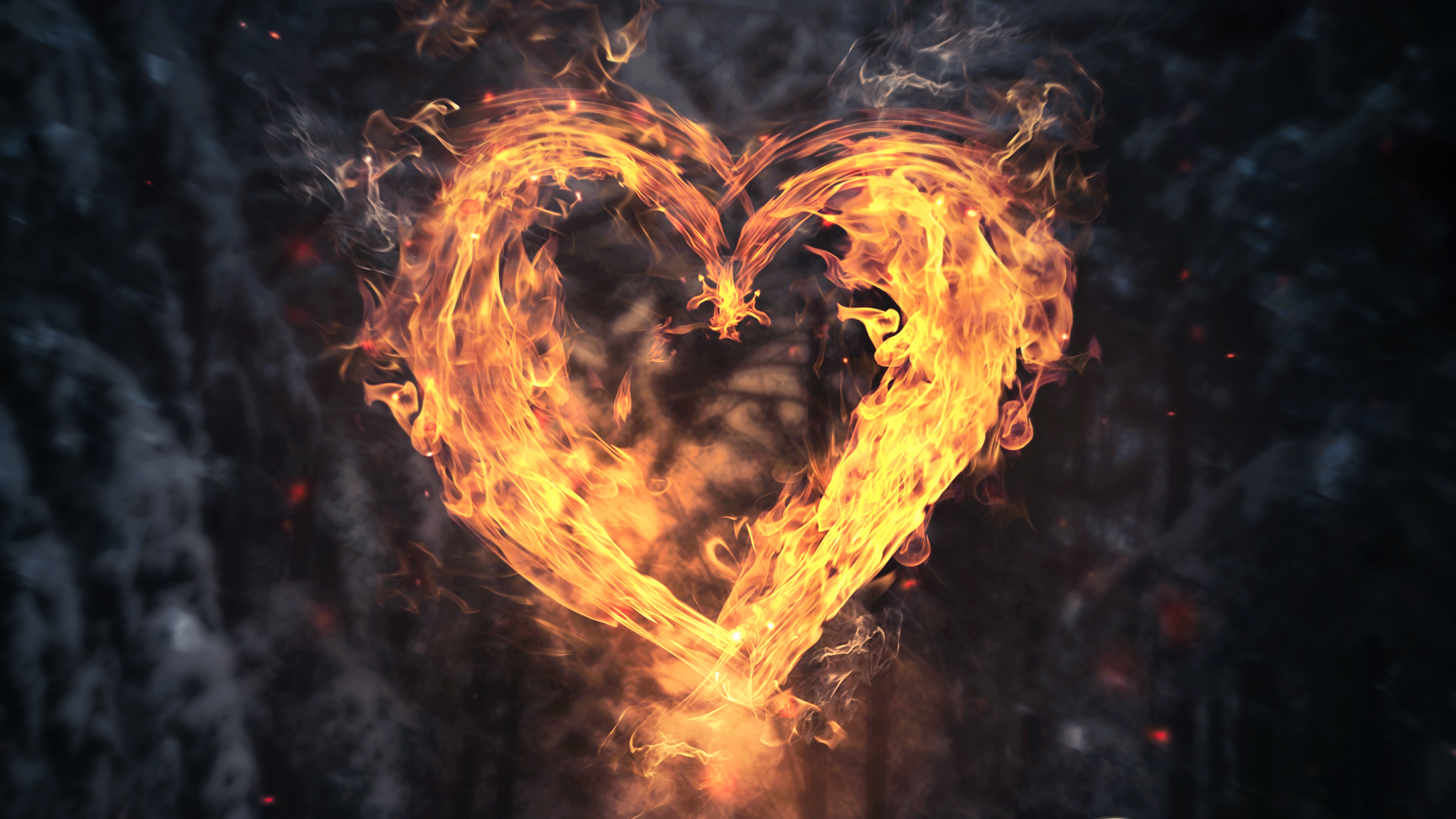 Burning Love Hd Wallpapers: Burning Heart, HD Love, 4k Wallpapers, Images, Backgrounds