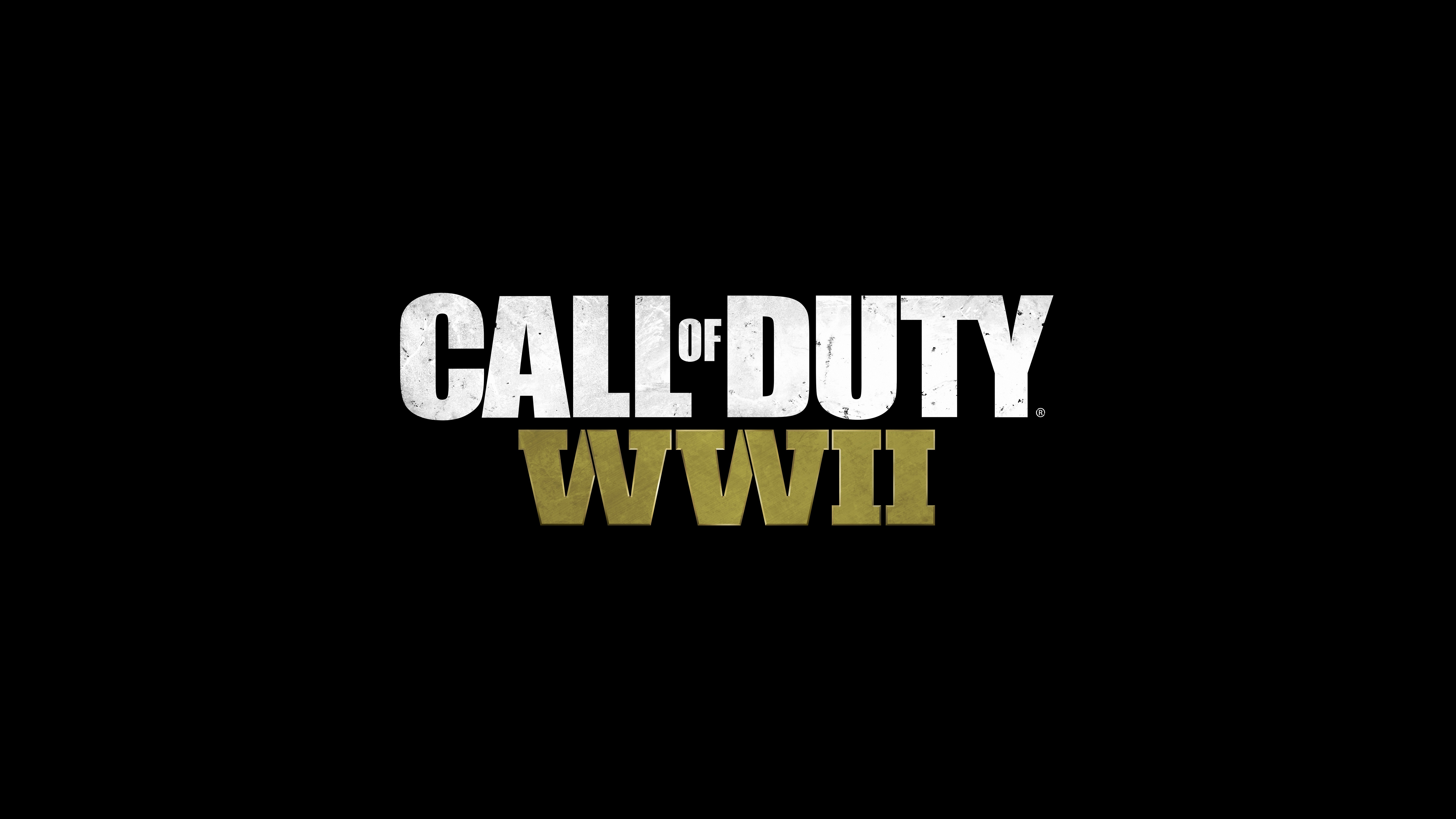 Call Of Duty Wwii Wallpaper: Call Of Duty WW2 Logo 8k, HD Games, 4k Wallpapers, Images