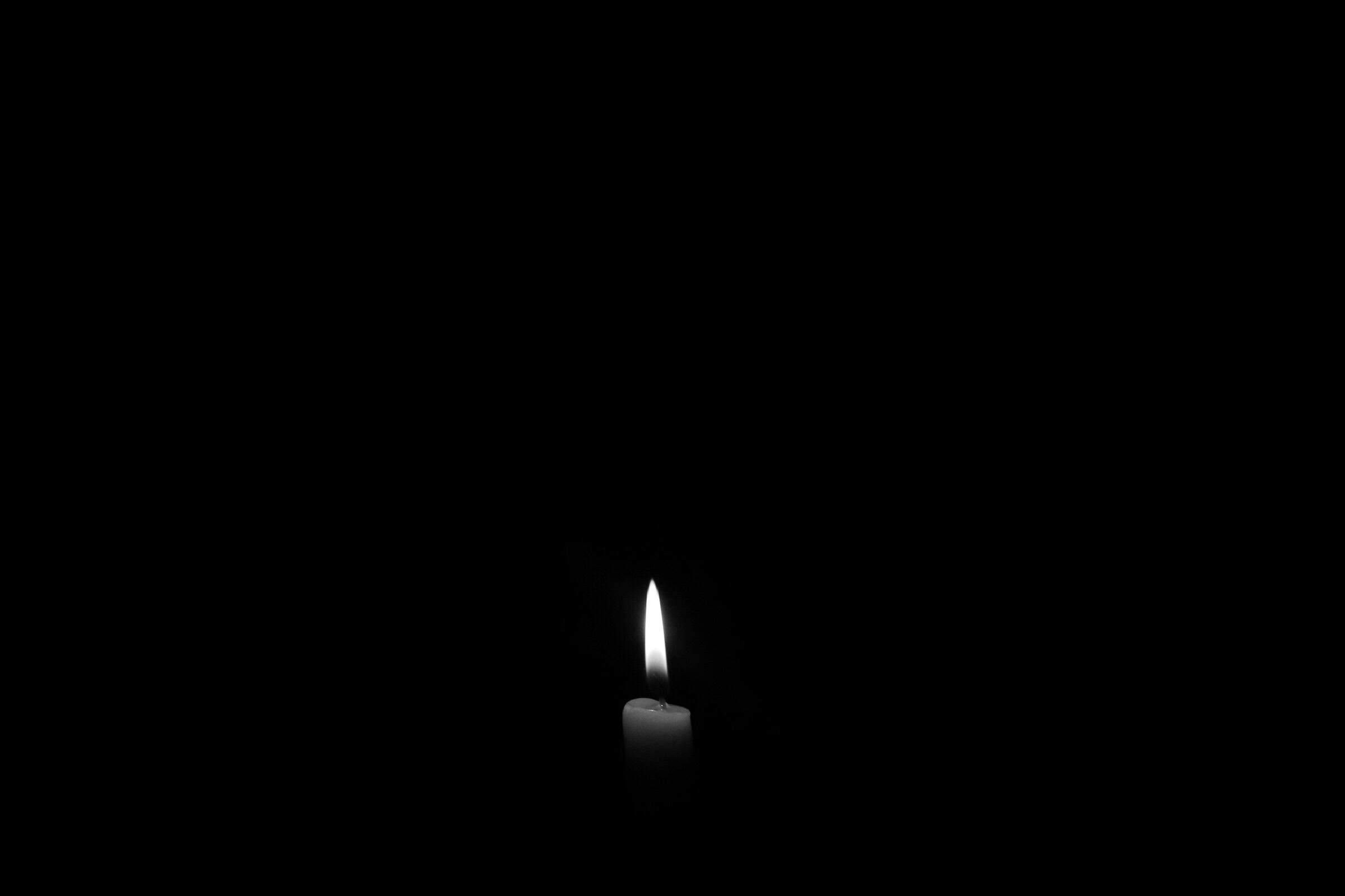 Candle Art Hd Wallpaper: Candle Dark Monochrome, HD Photography, 4k Wallpapers