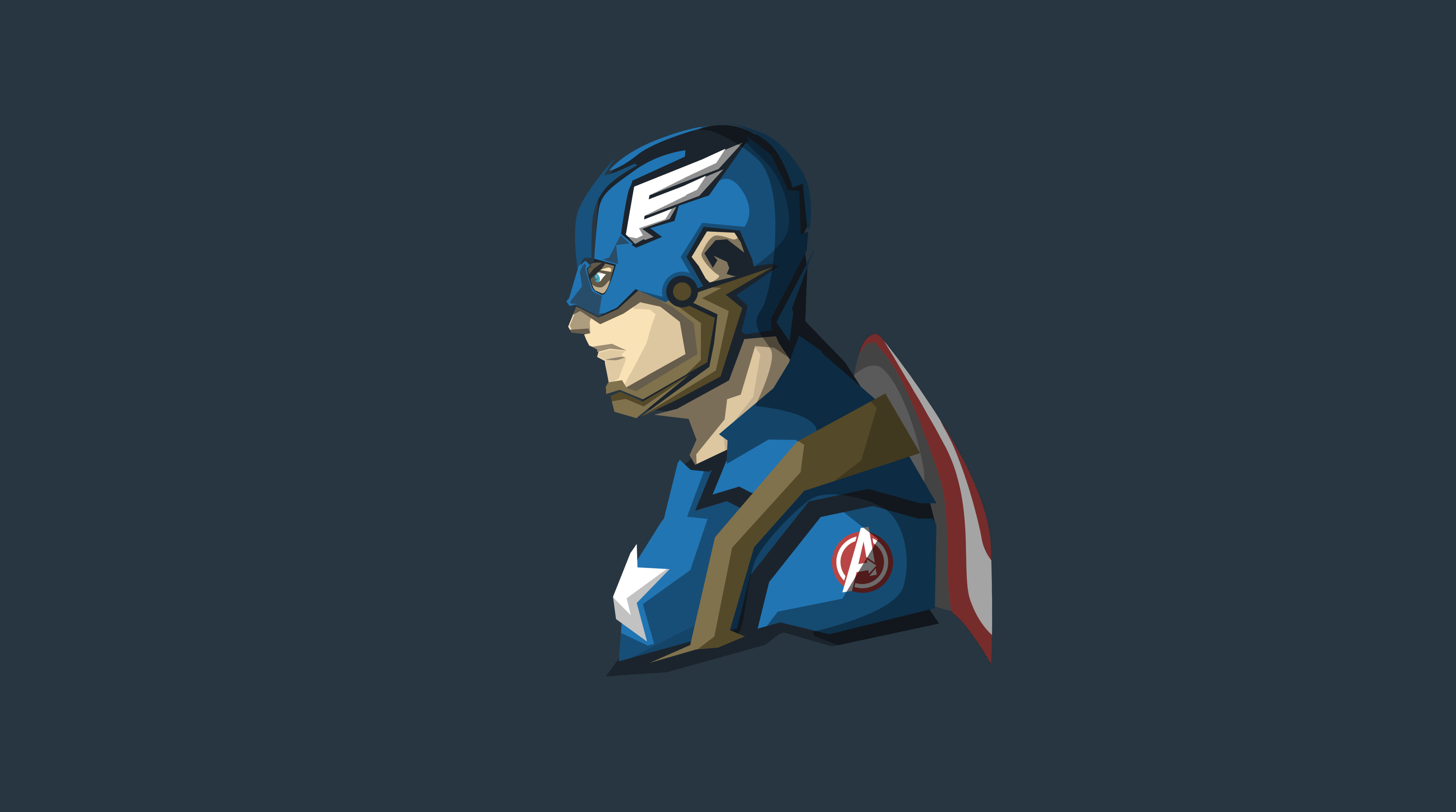Captain America 4k Minimalism Hd Superheroes 4k Wallpapers