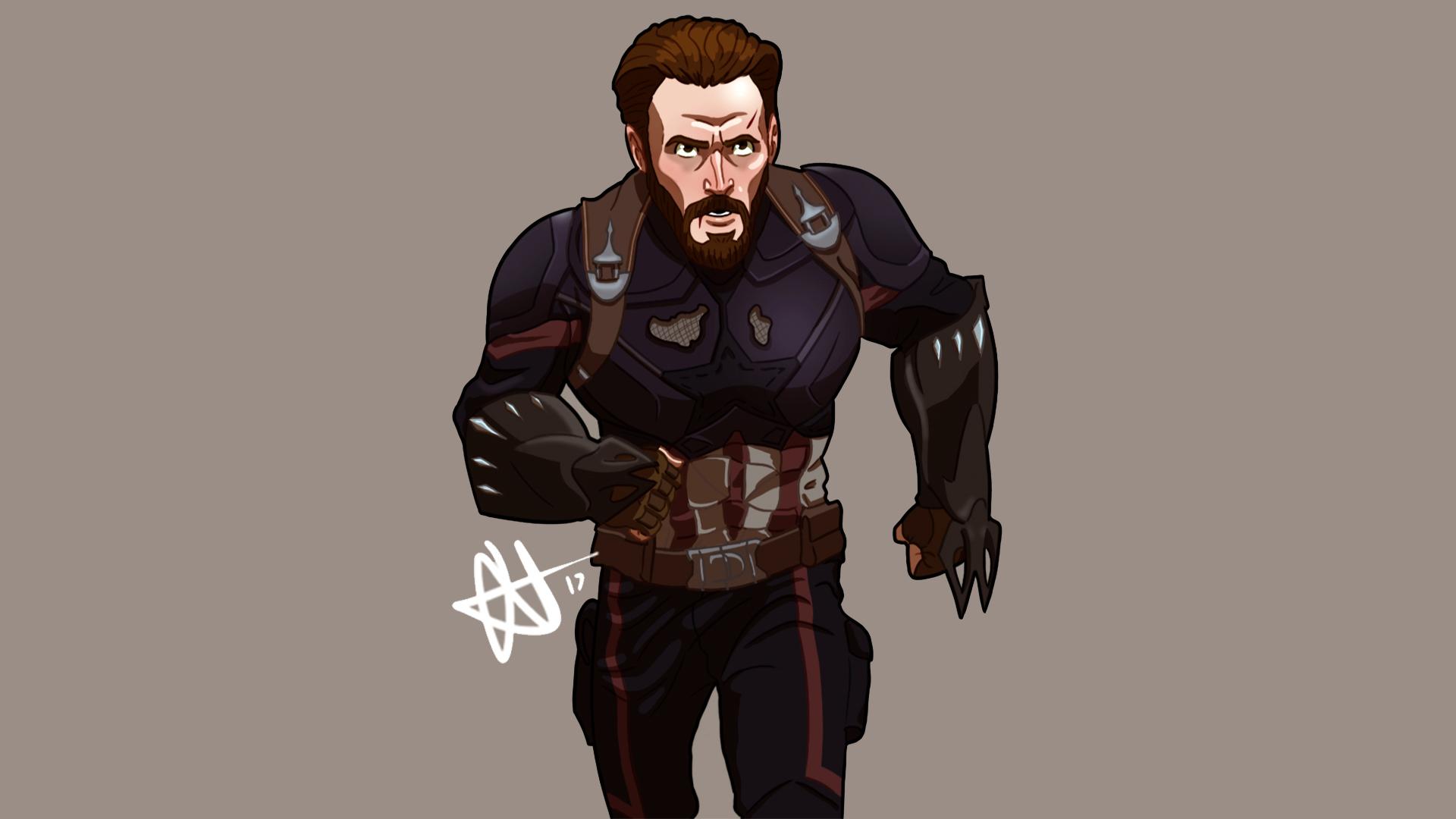1280x2120 Captain America Avengers Infinity War Artwork