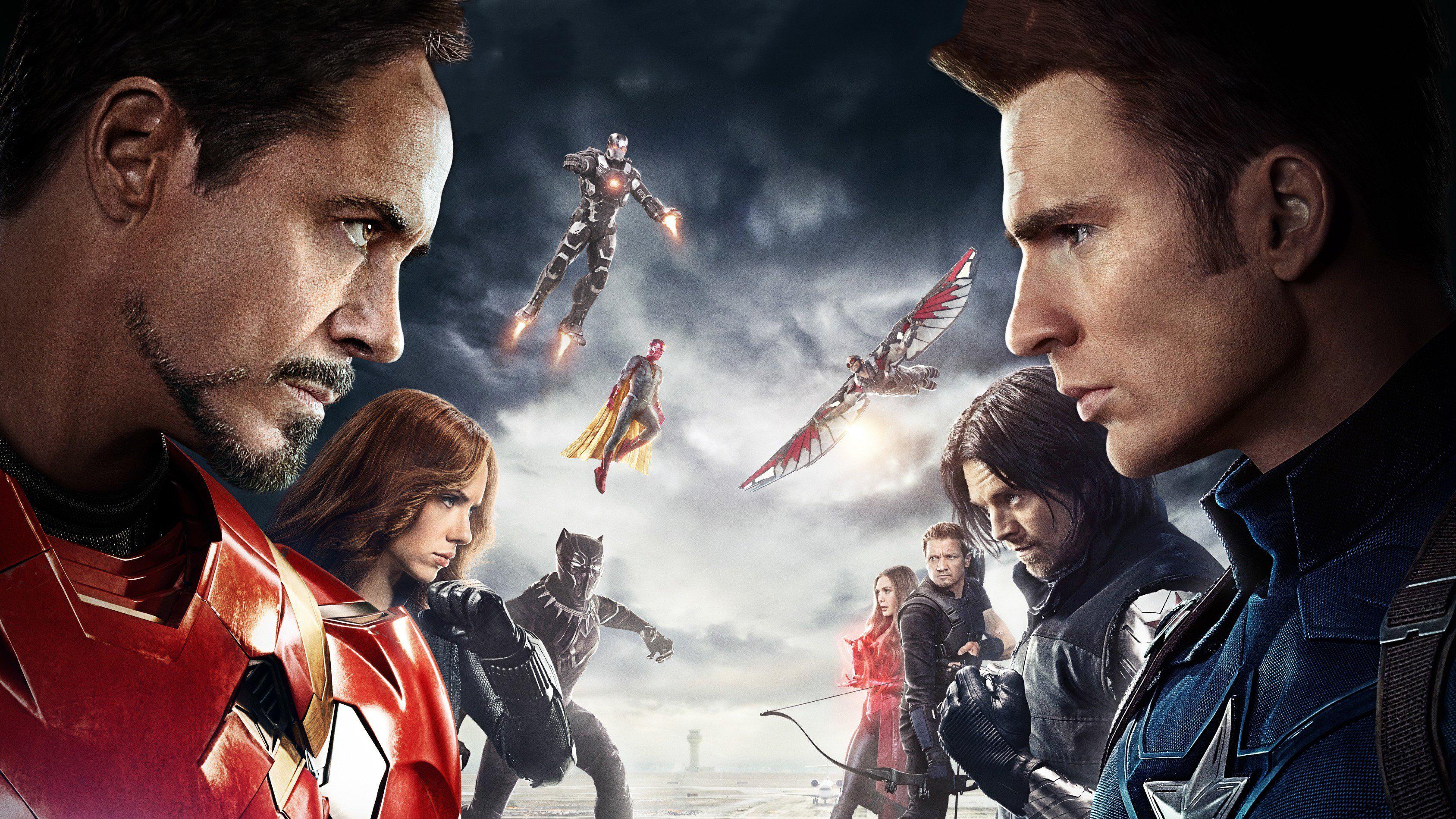 Captain America Civil War Wallpaper 4k: Captain America Civil War Poster, HD Movies, 4k Wallpapers