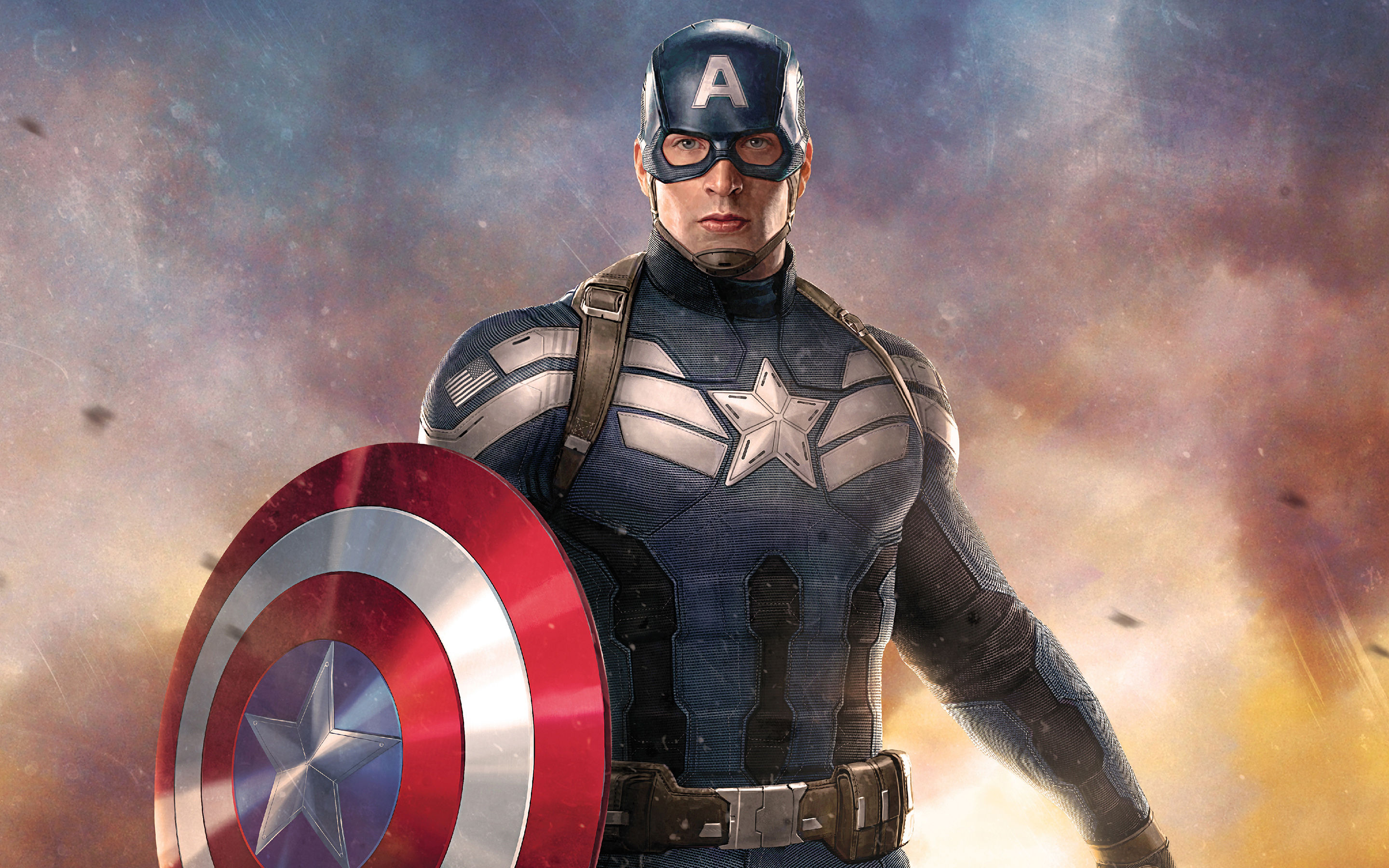 Captain America Holding Shield Hd Superheroes 4k Wallpapers