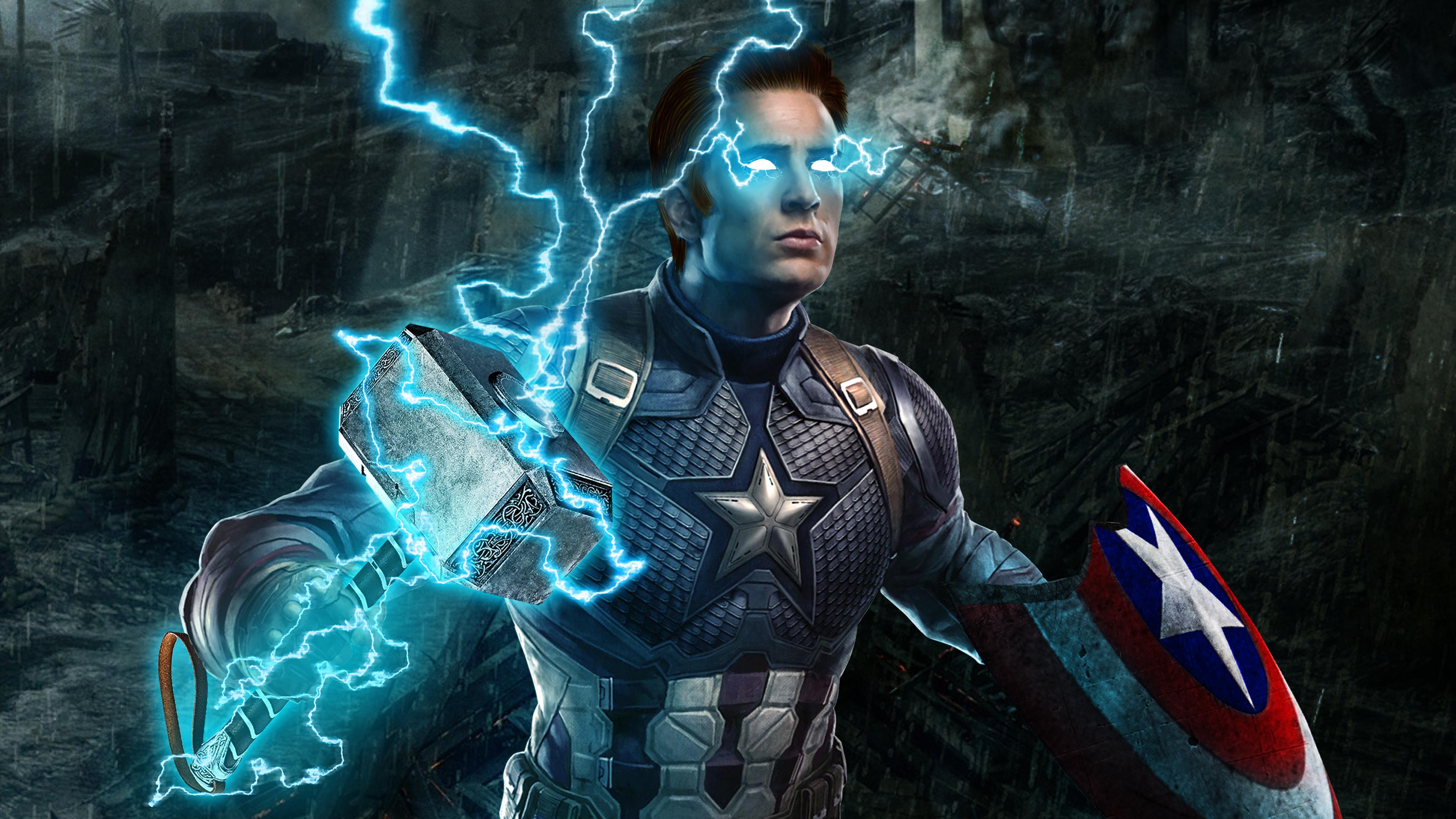 Captain America Mjolnir Avengers Endgame 4k, HD ...