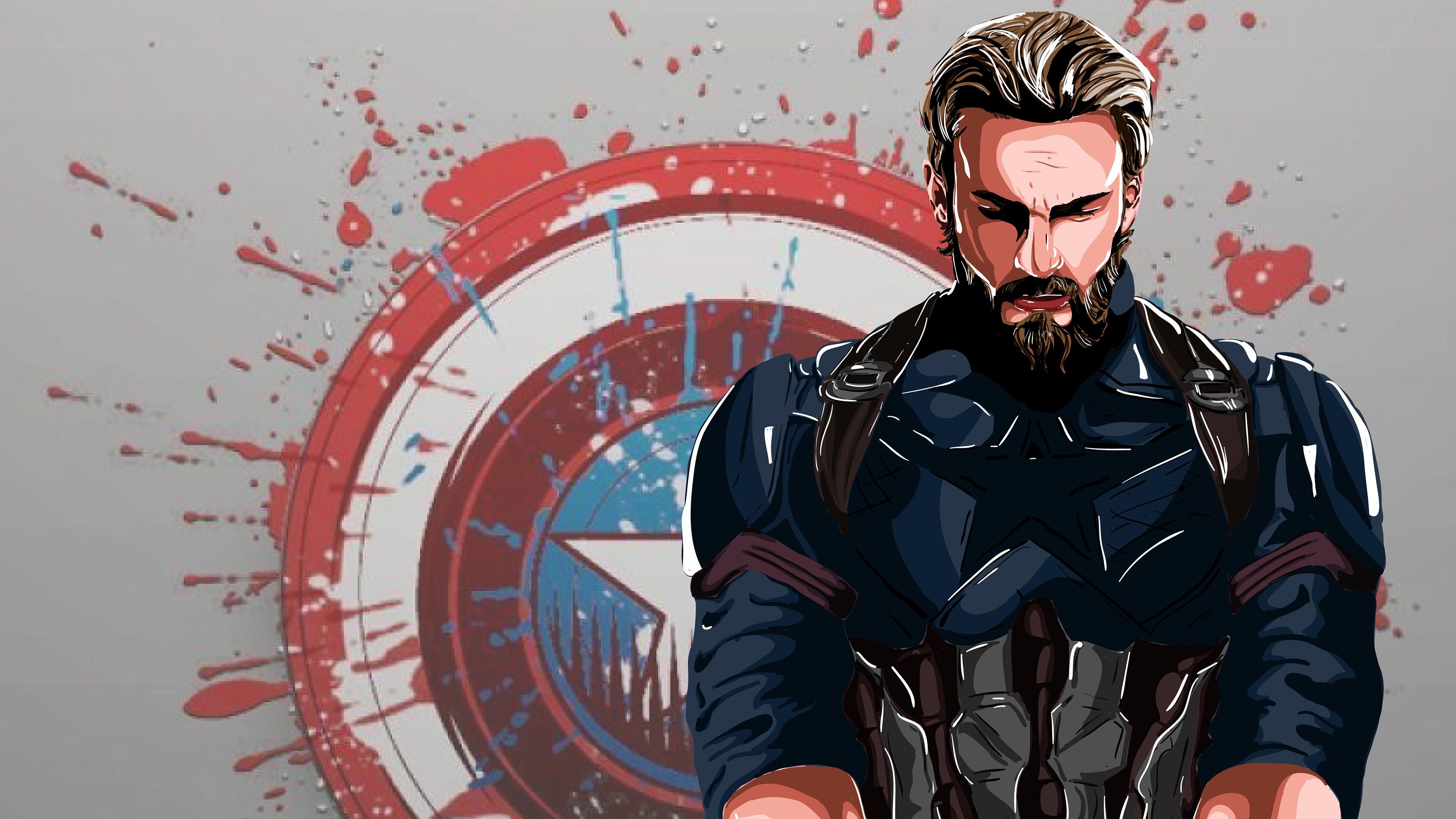 Captain America New Art 4k Hd Superheroes 4k Wallpapers