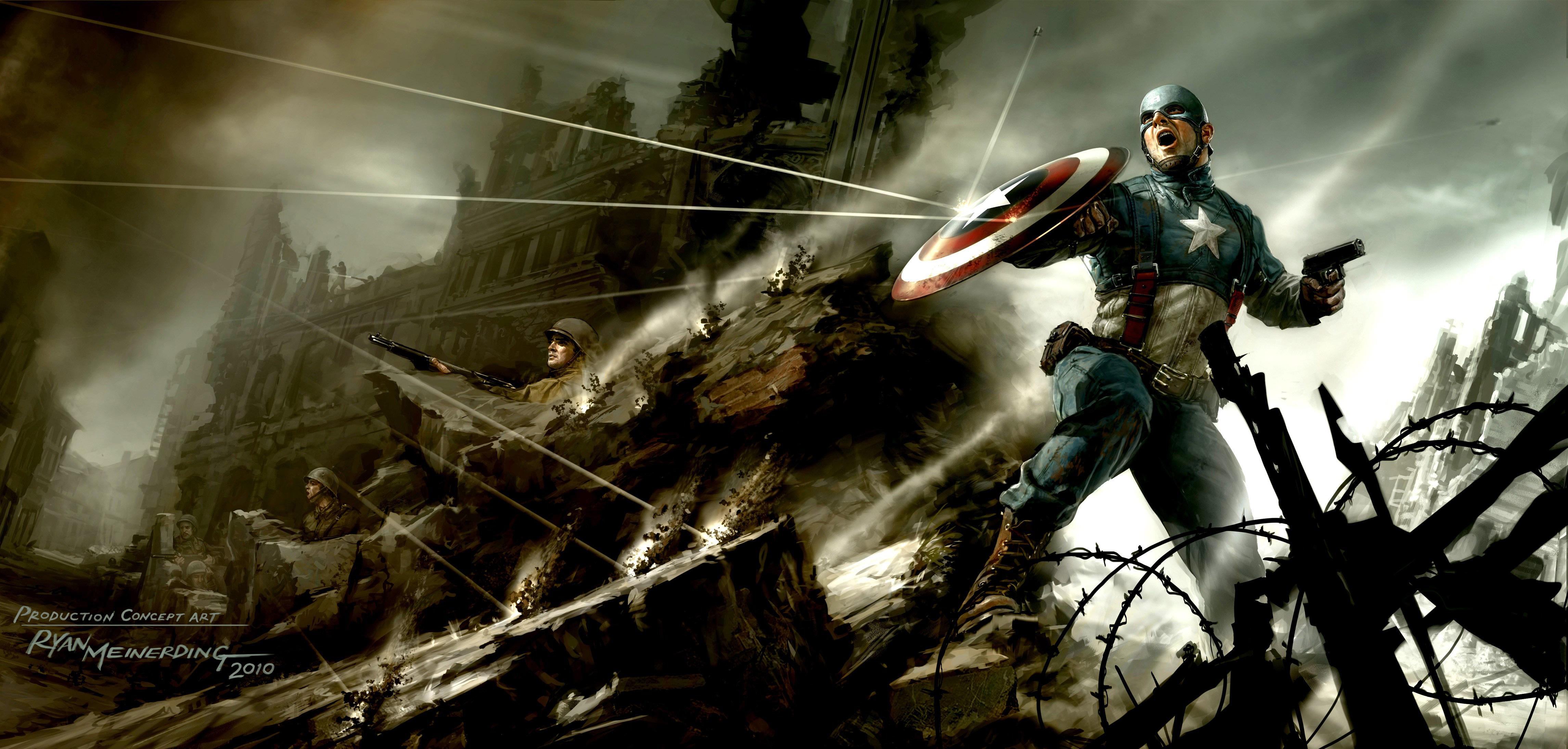 Captain America The First Avenger Artwork Hd Superheroes 4k