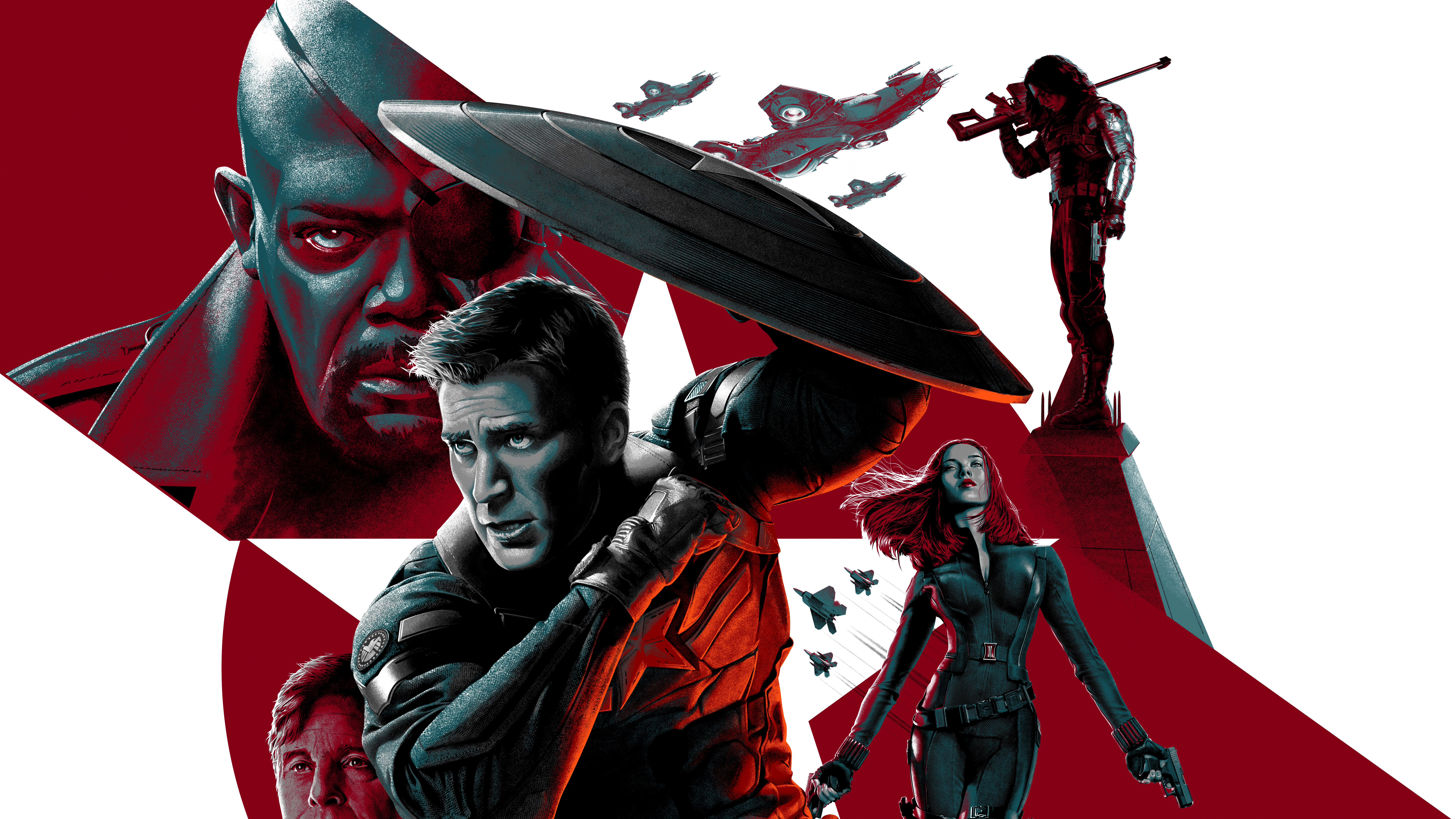 Captain America The Winter Soldier 8k, HD Movies, 4k