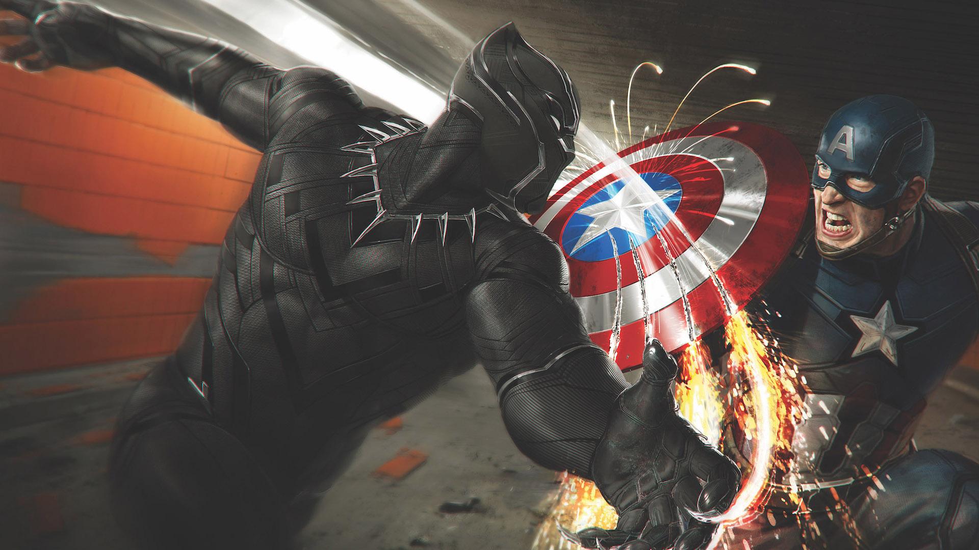 Captain America Vs Black Panther Hd Superheroes 4k Wallpapers