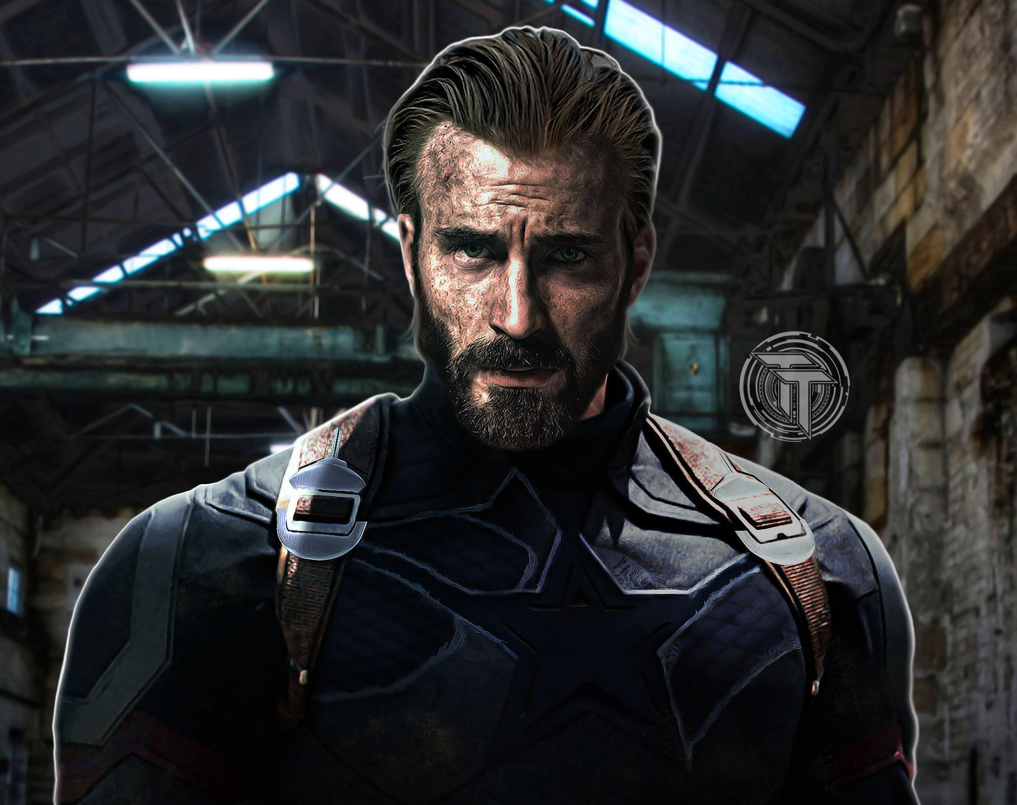 Captain america with beard in avengers infinity war 2018 - Captain america hd images download ...
