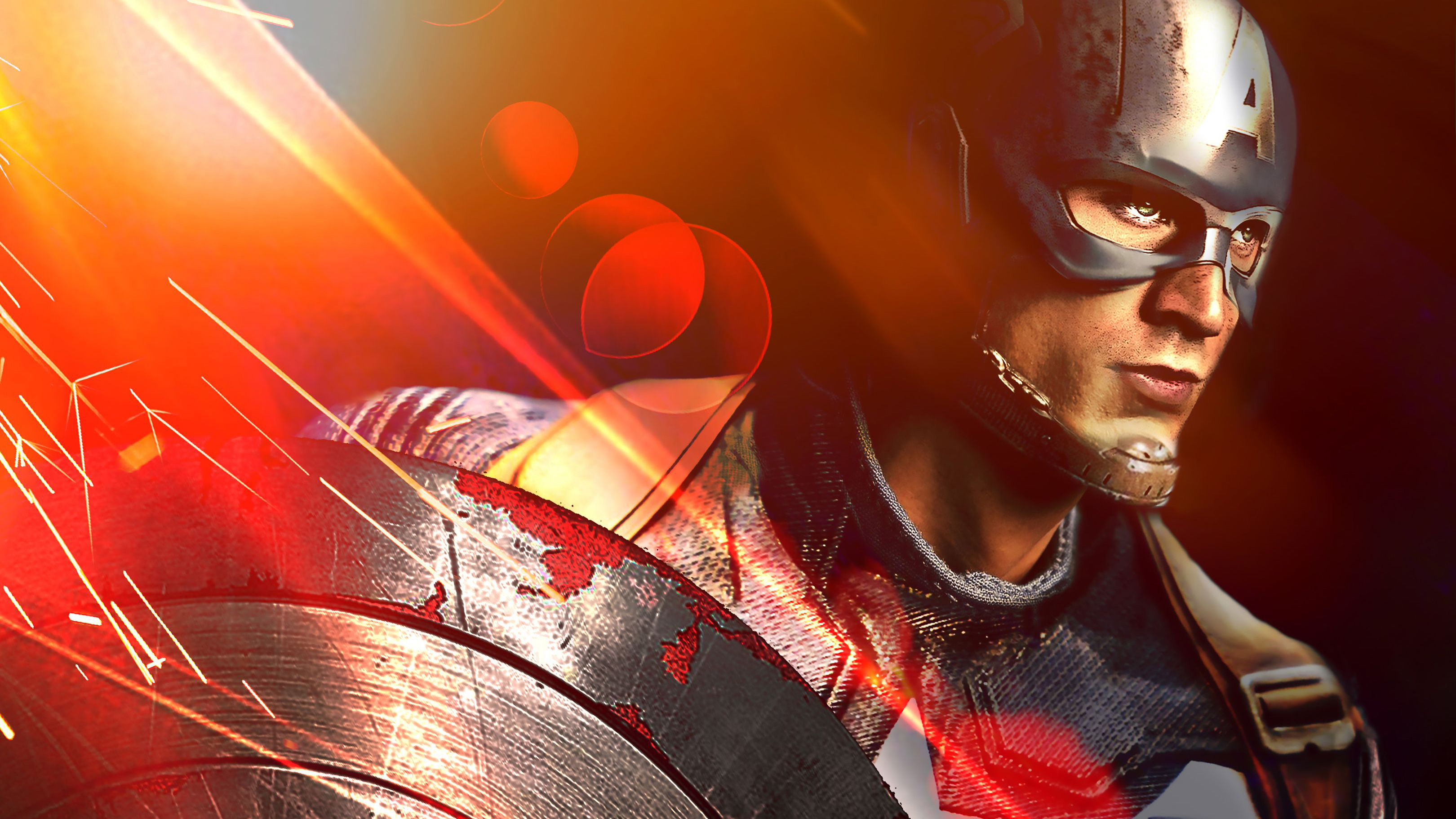 Captain America With His Shield Artwork, HD Superheroes ...