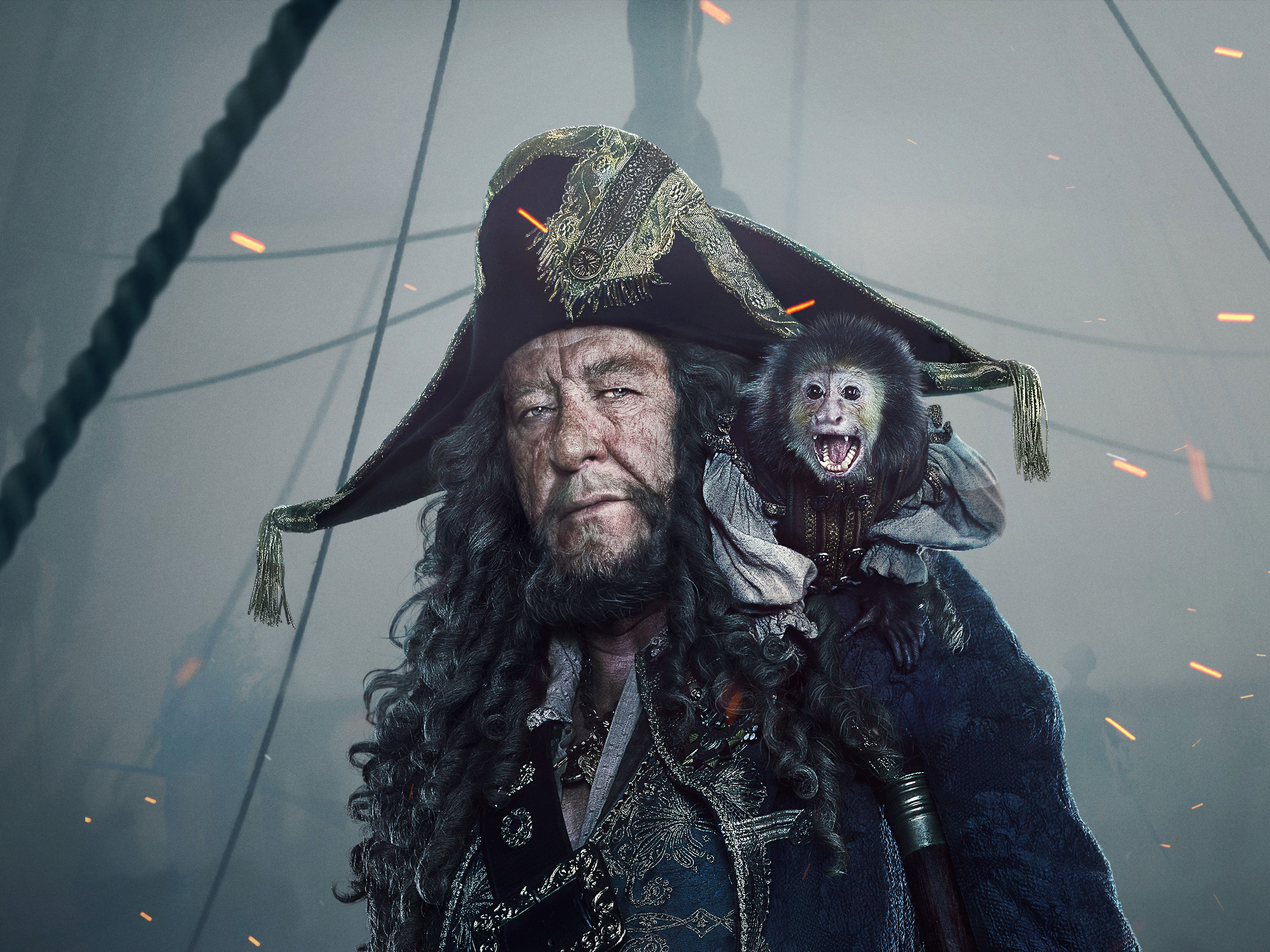 Dead Men Tell No Tales Wallpaper: 1080x1920 Captain Hector Barbossa In Pirates Of The