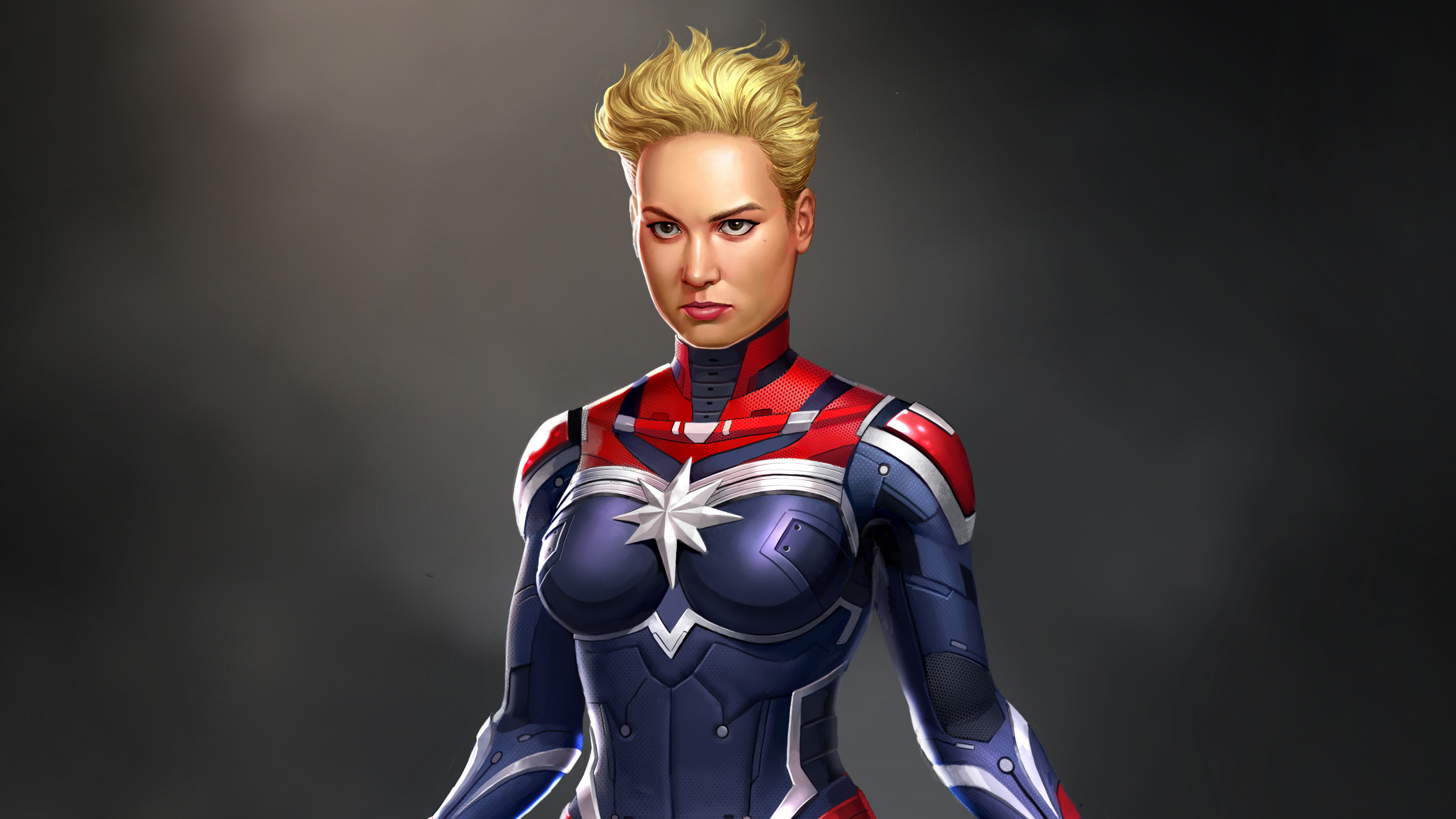 Captain Marvel Fantasy Art Wallpapers Hd Desktop And: 640x960 Captain Marvel Digital Art IPhone 4, IPhone 4S HD