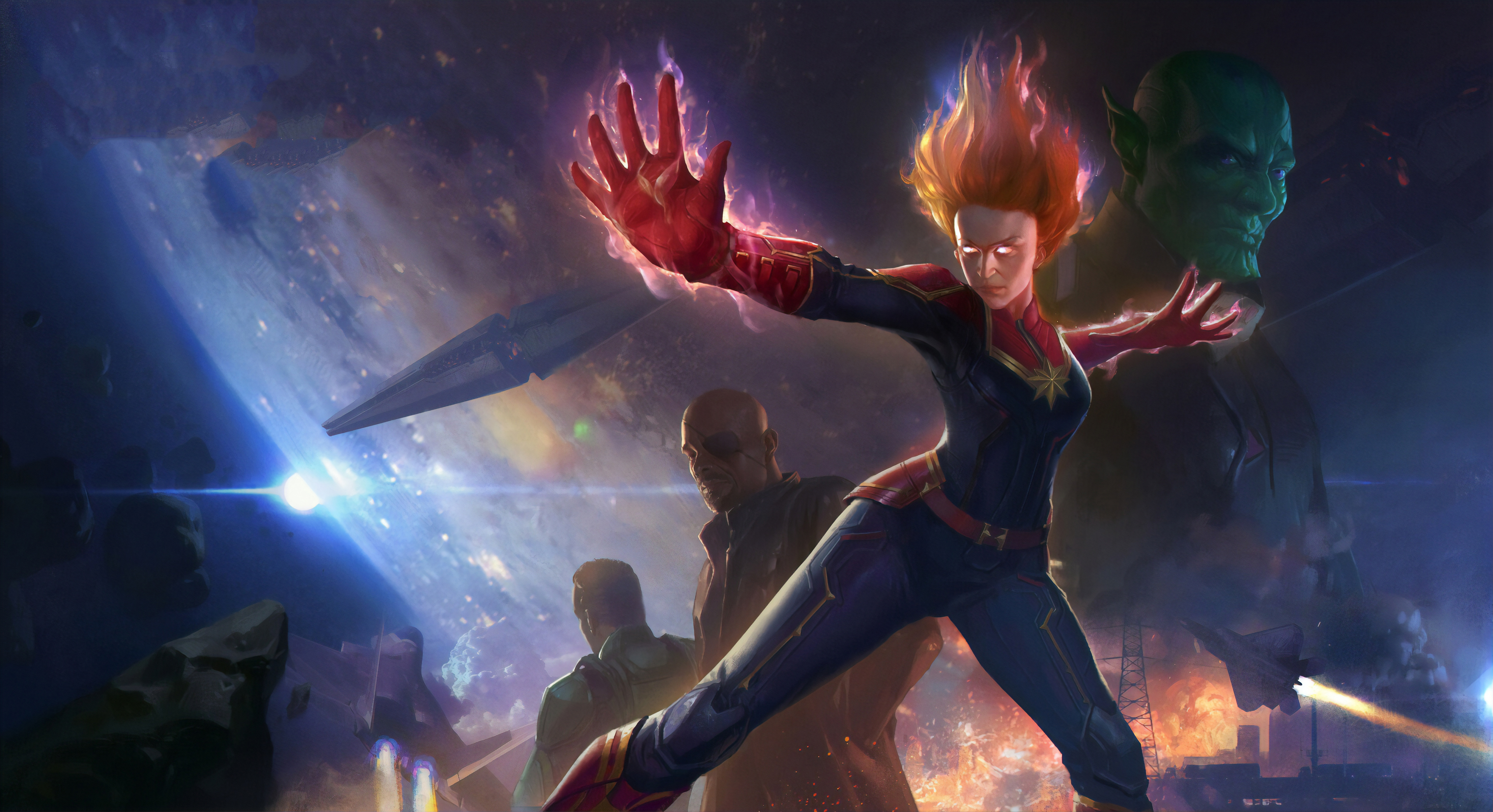 1920x1080 Captain Marvel Movie Concept Art Laptop Full Hd