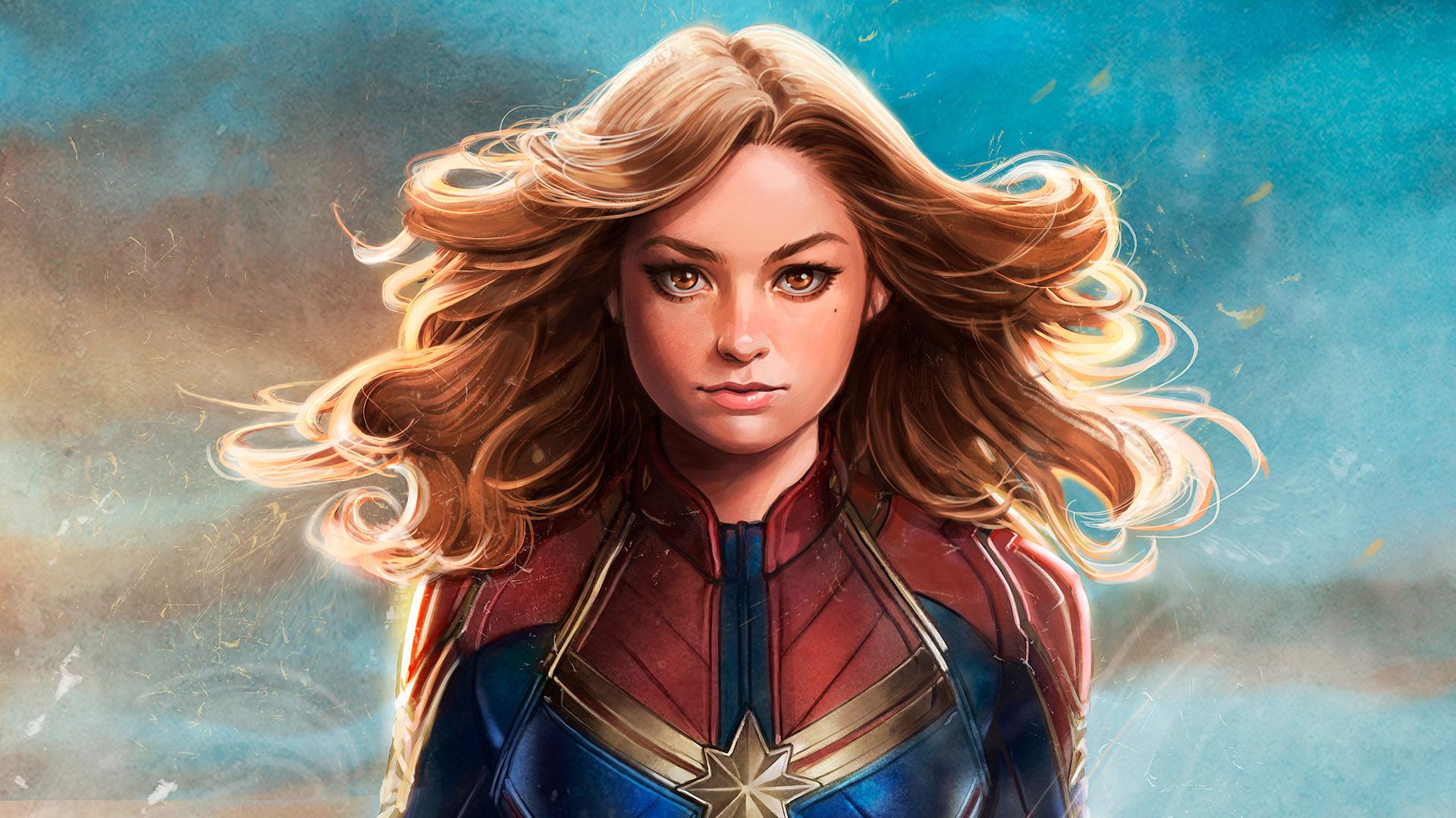 Captain Marvel Fantasy Art Wallpapers Hd Desktop And: Captain Marvel New Artwork, HD Superheroes, 4k Wallpapers