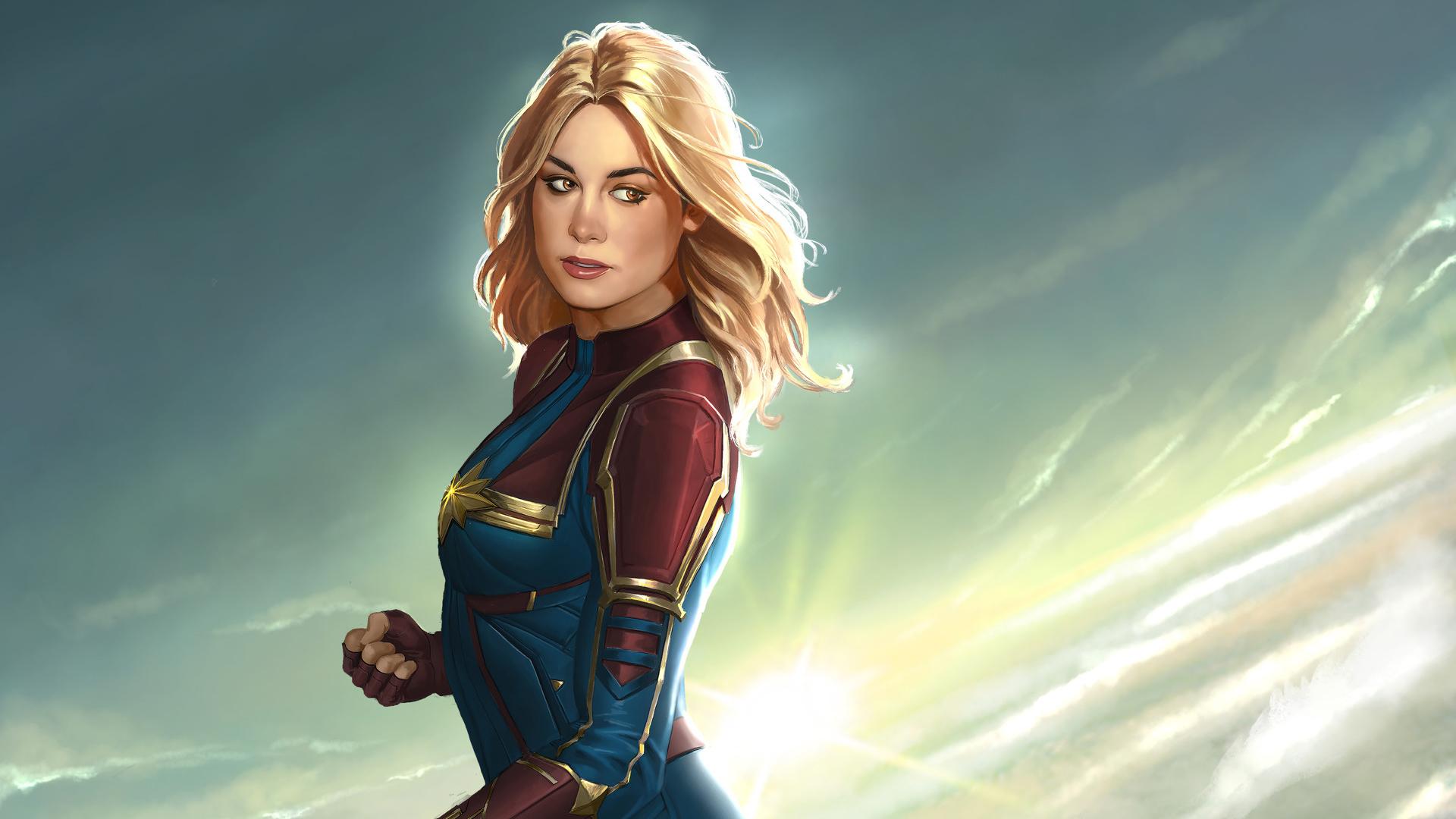 Captain Marvel Fantasy Art Wallpapers Hd Desktop And: Captain Marvel New Artworks, HD Superheroes, 4k Wallpapers
